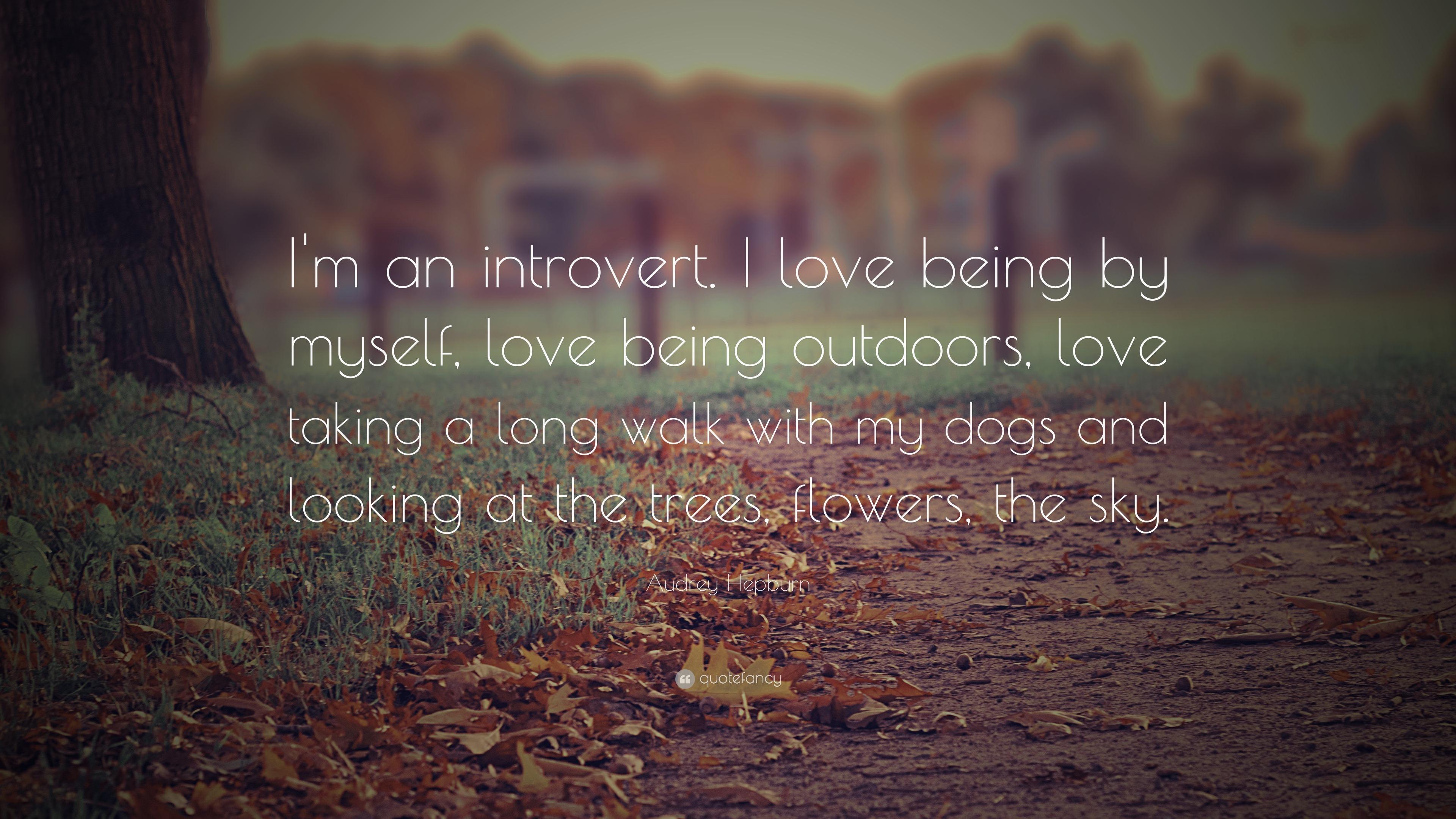 Audrey Hepburn Quote Im An Introvert I Love Being By Myself
