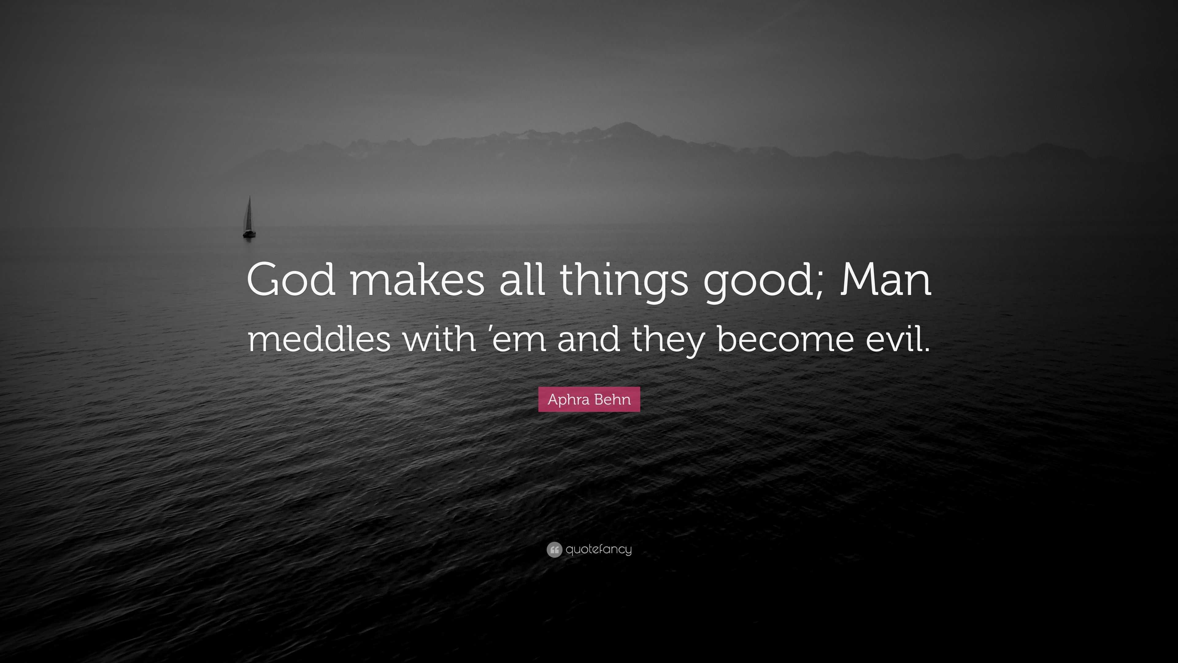 what makes a good man
