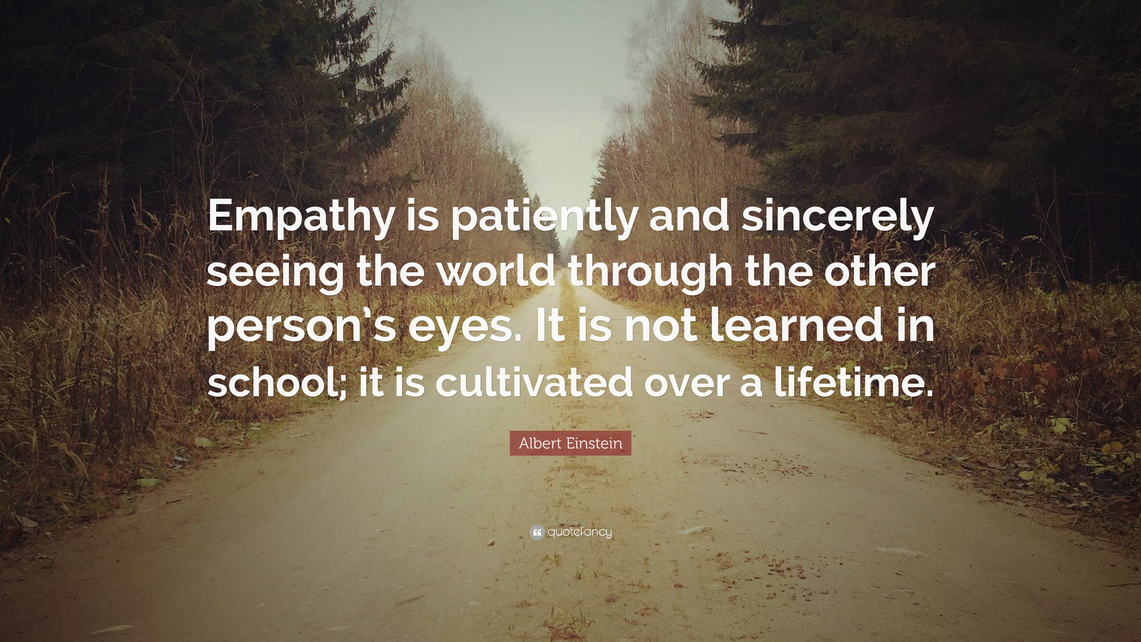 Albert Einstein Quote Empathy Is Patiently And Sincerely Seeing