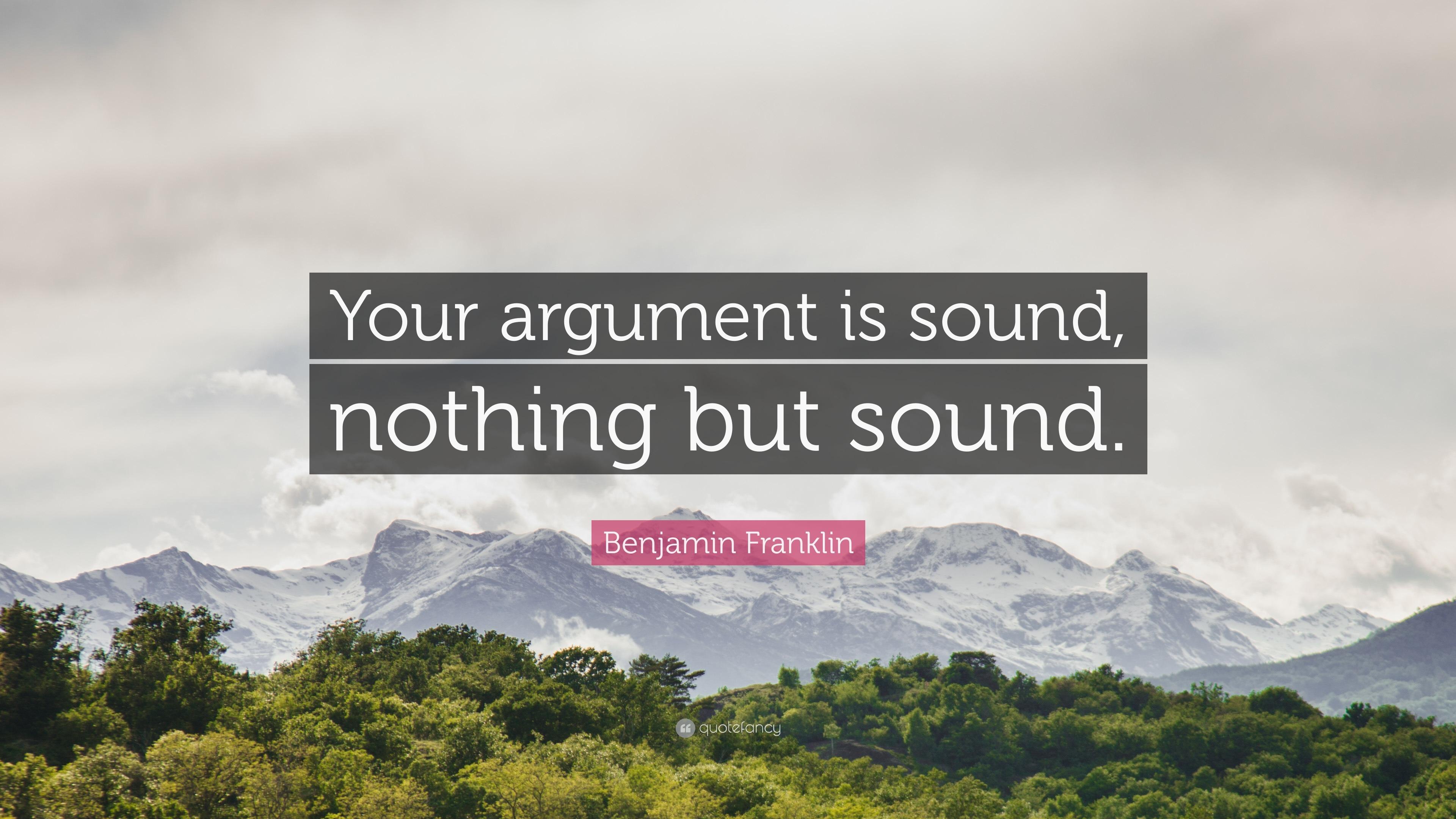 your argument