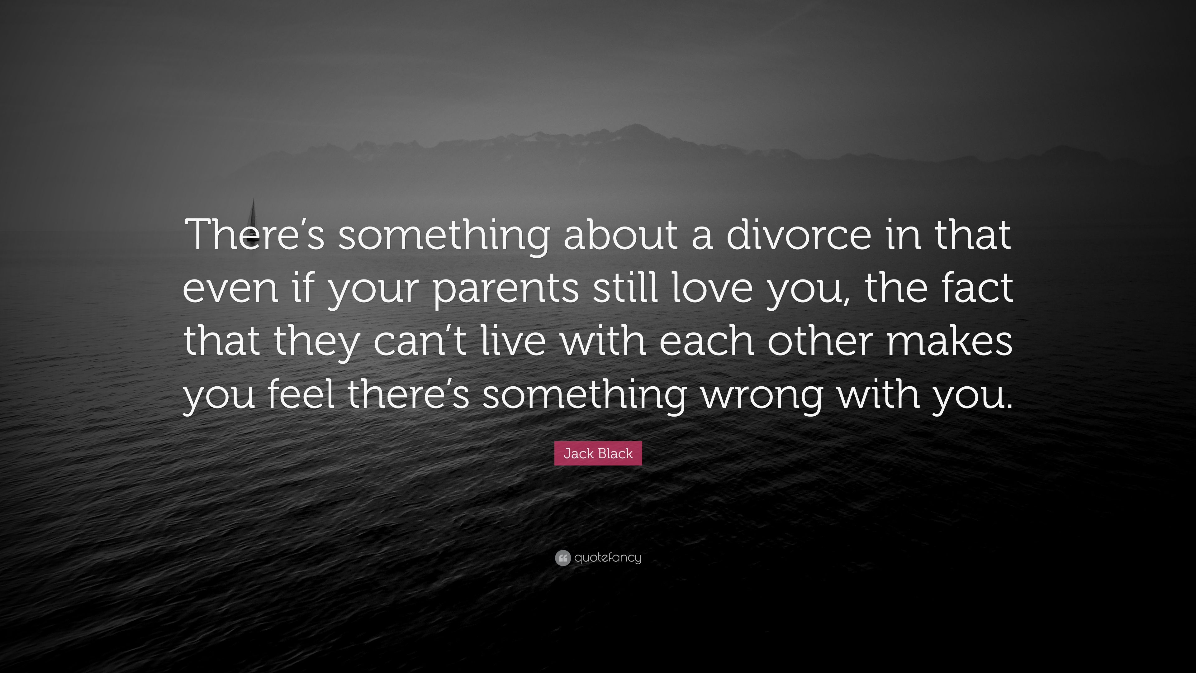 "Jack Black Quote: ""There\'s something about a divorce in that ..."