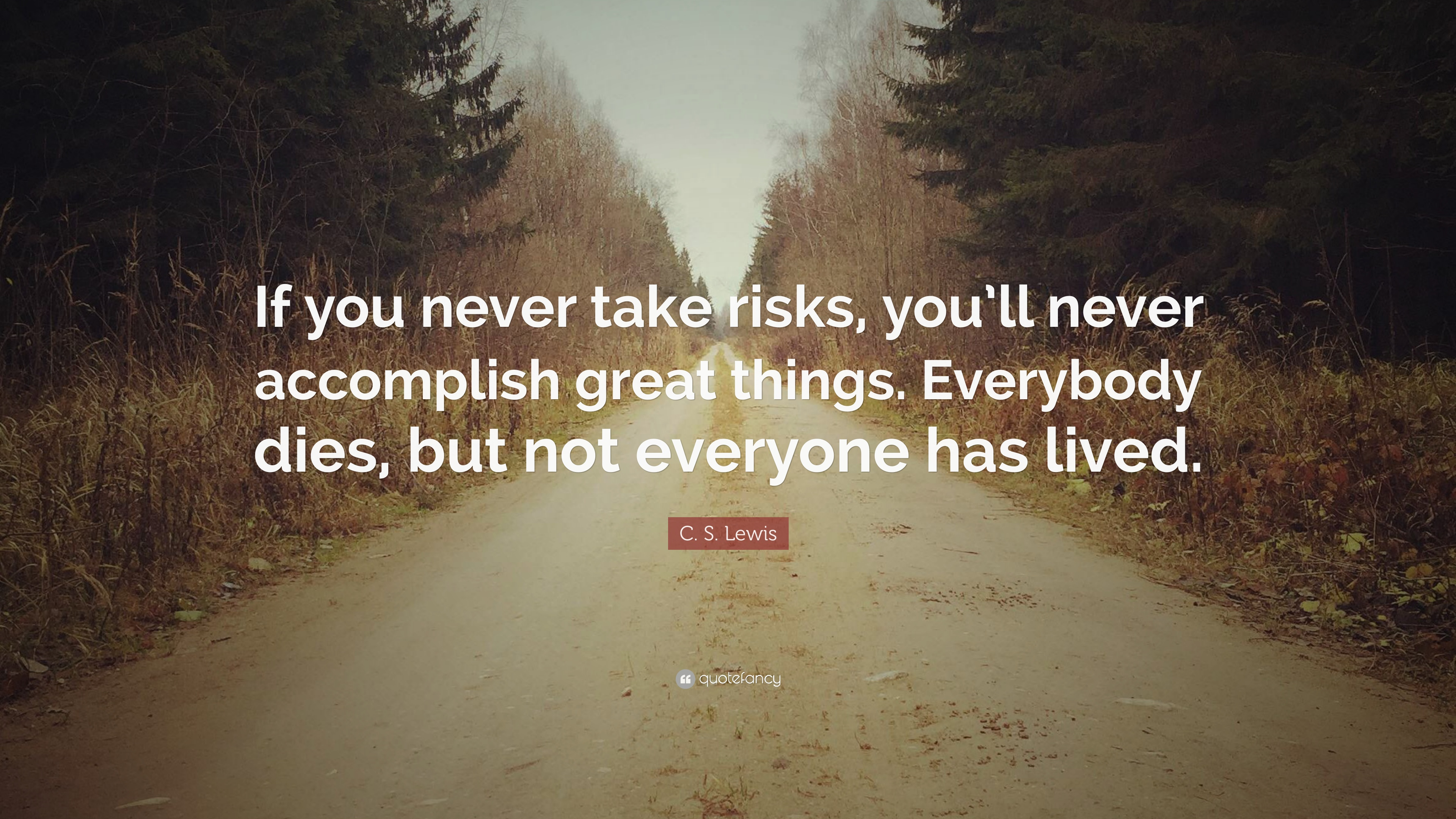 C S Lewis Quote If You Never Take Risks Youll Never Accomplish