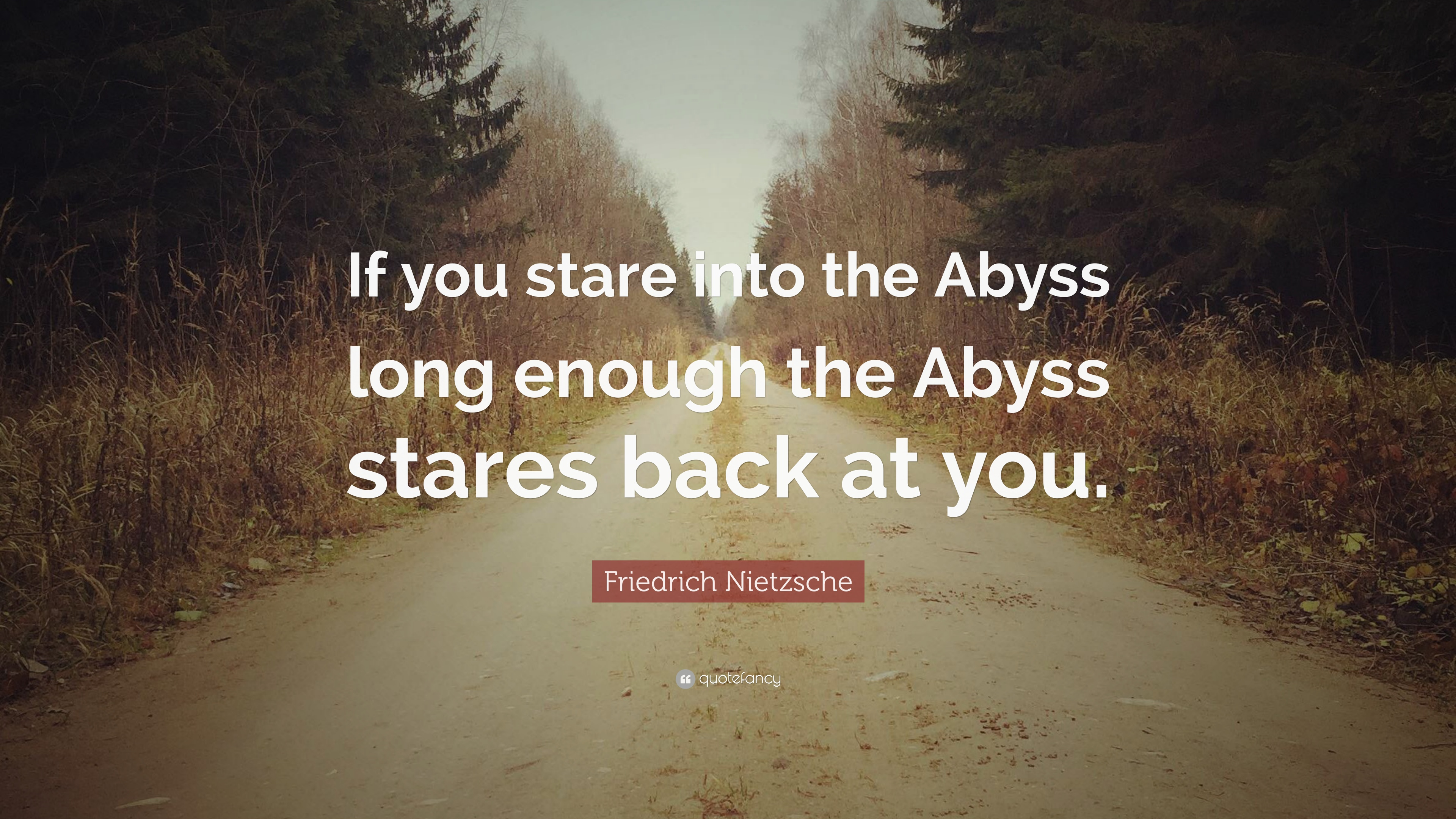 when you stare into the abyss quote