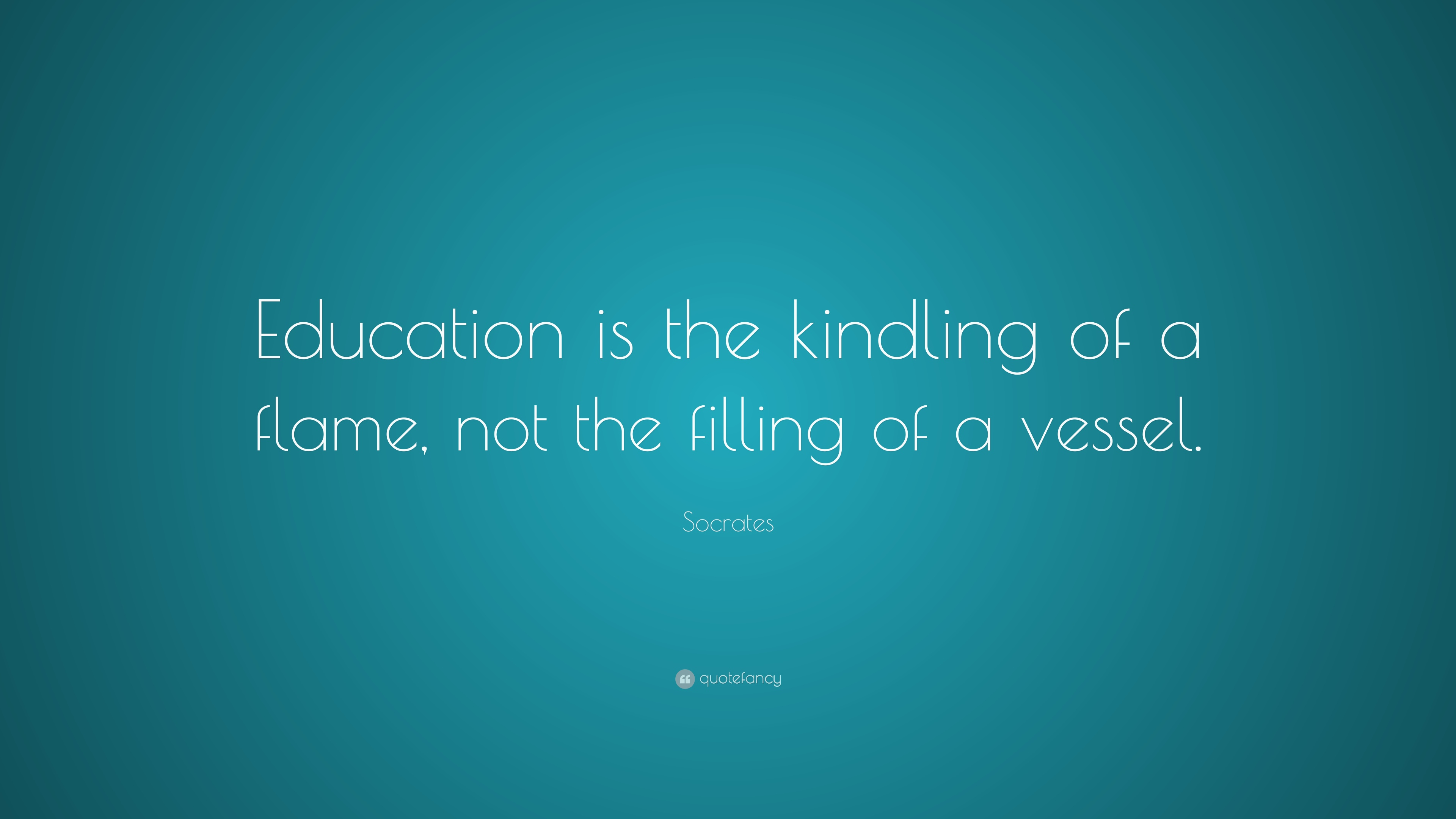 education is not a vessel to