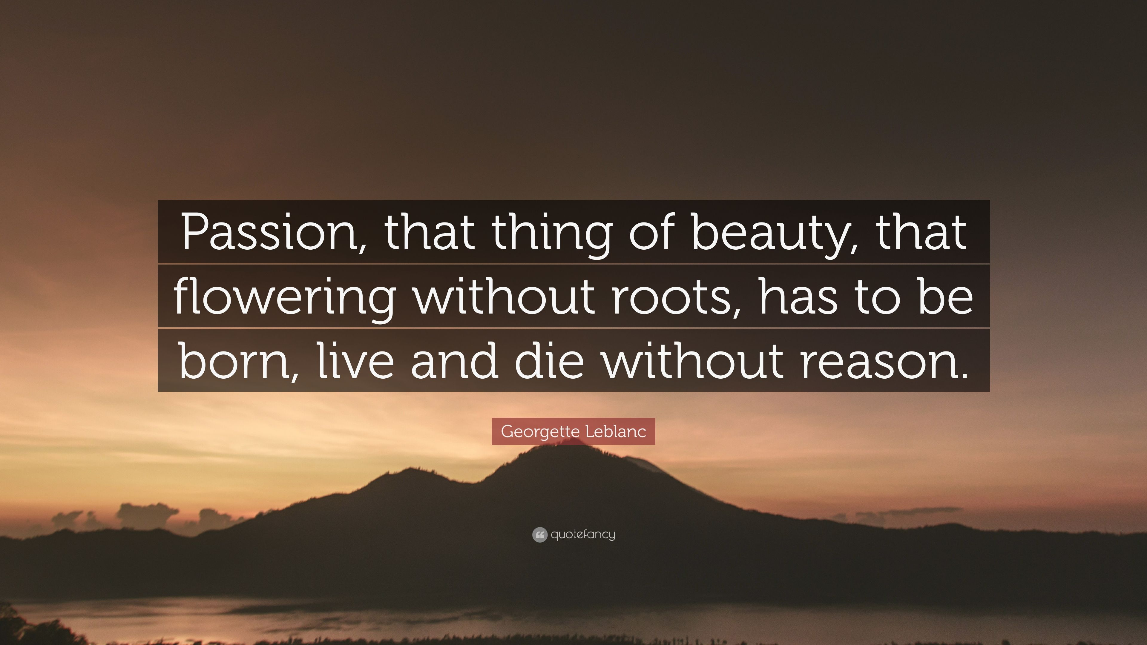 passion without reason