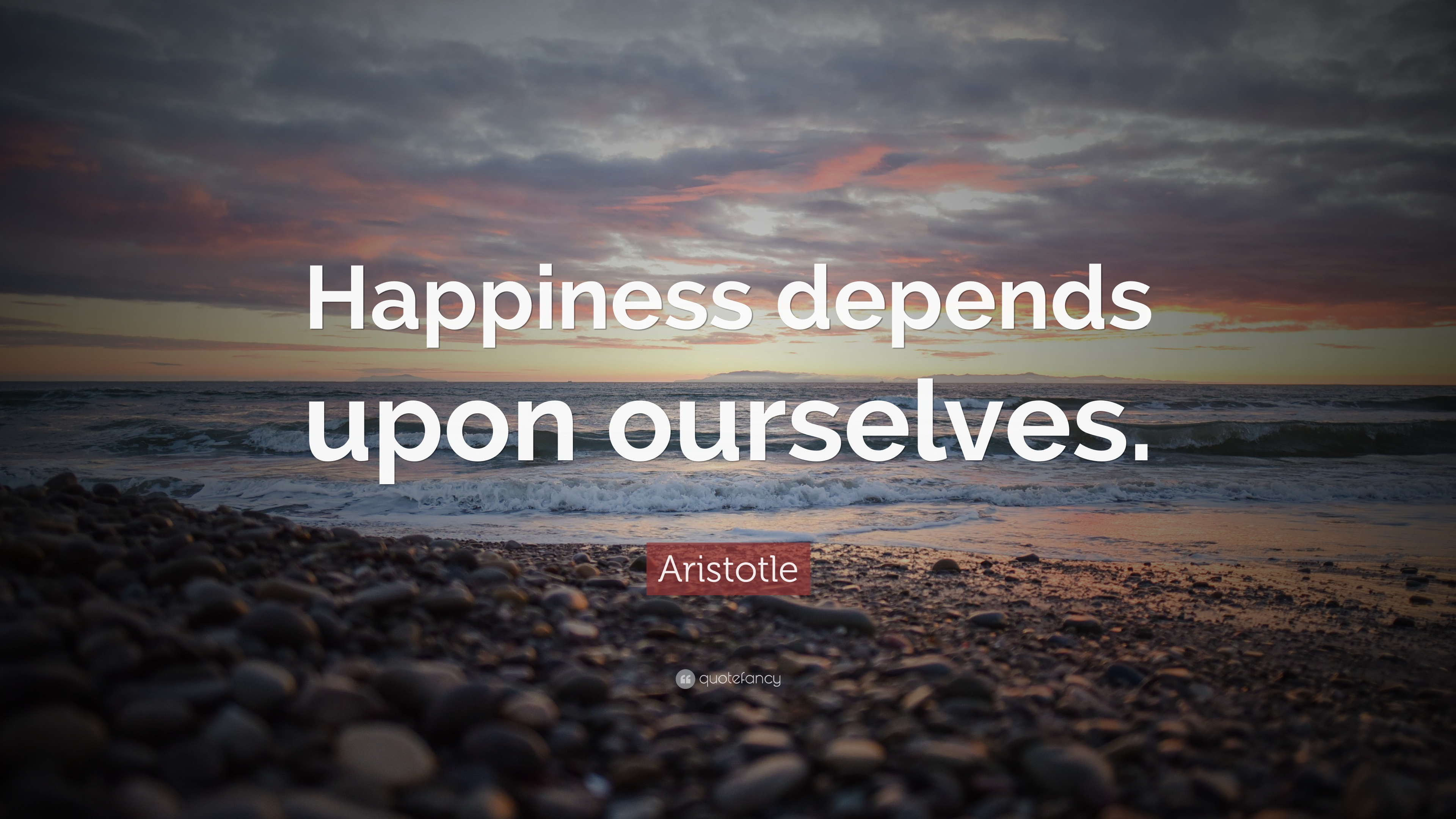 Happiness Depends On Ourselves Aristotle Quote: Happiness Quotes (100 Wallpapers)