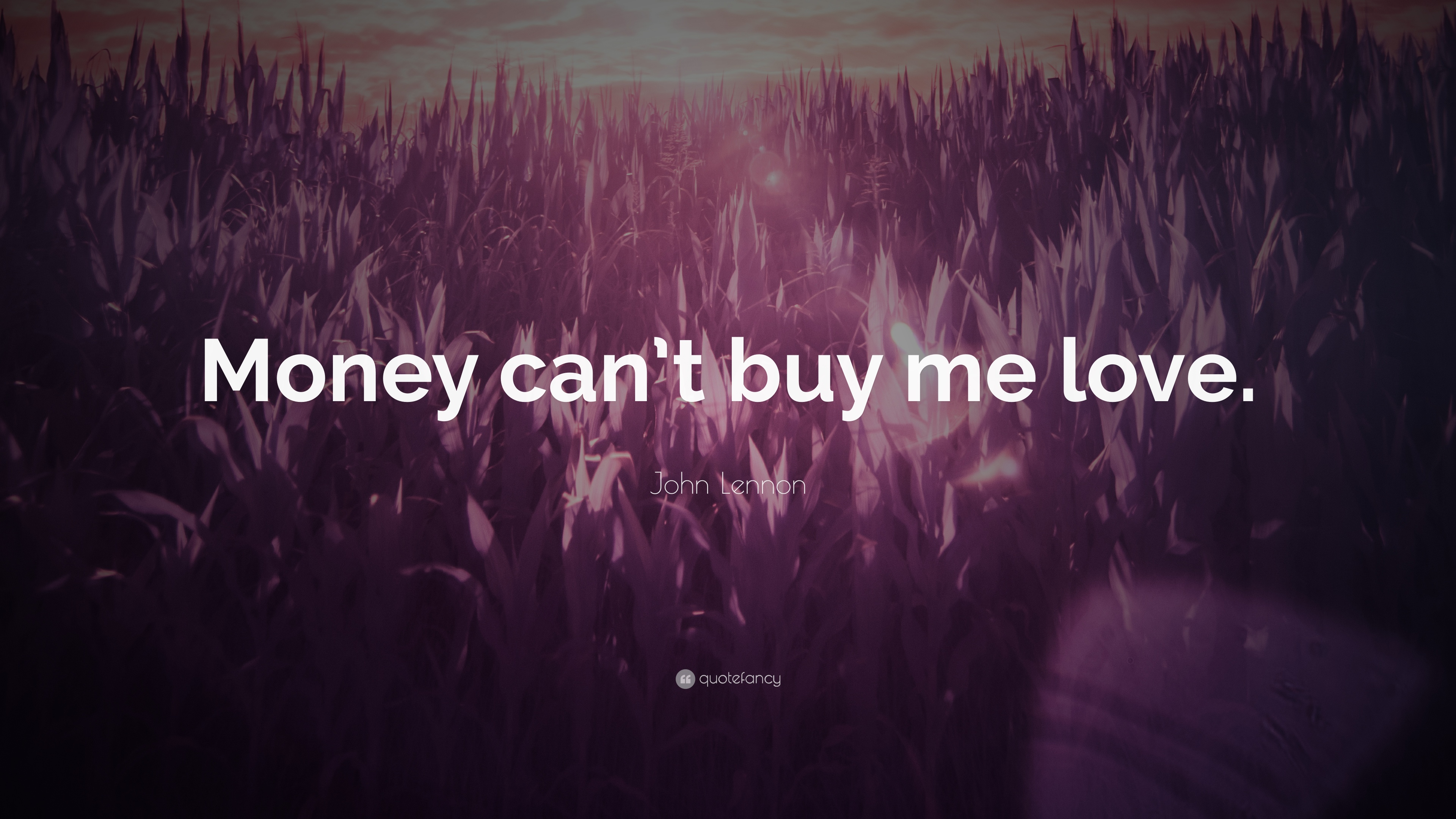 John Lennon Quote Money Cant Buy Me Love 12 Wallpapers