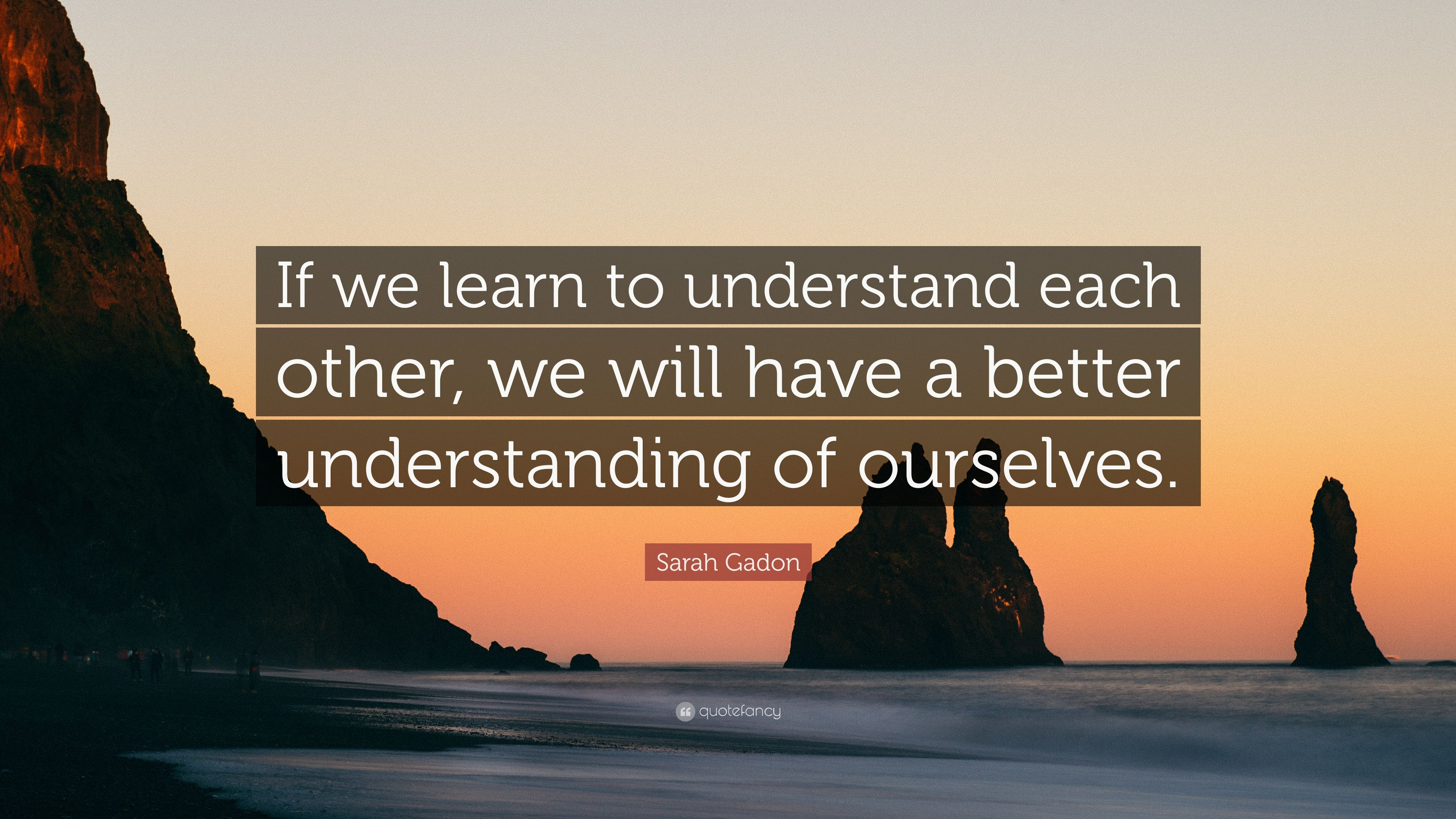 Sarah Gadon Quote If We Learn To Understand Each Other We Will