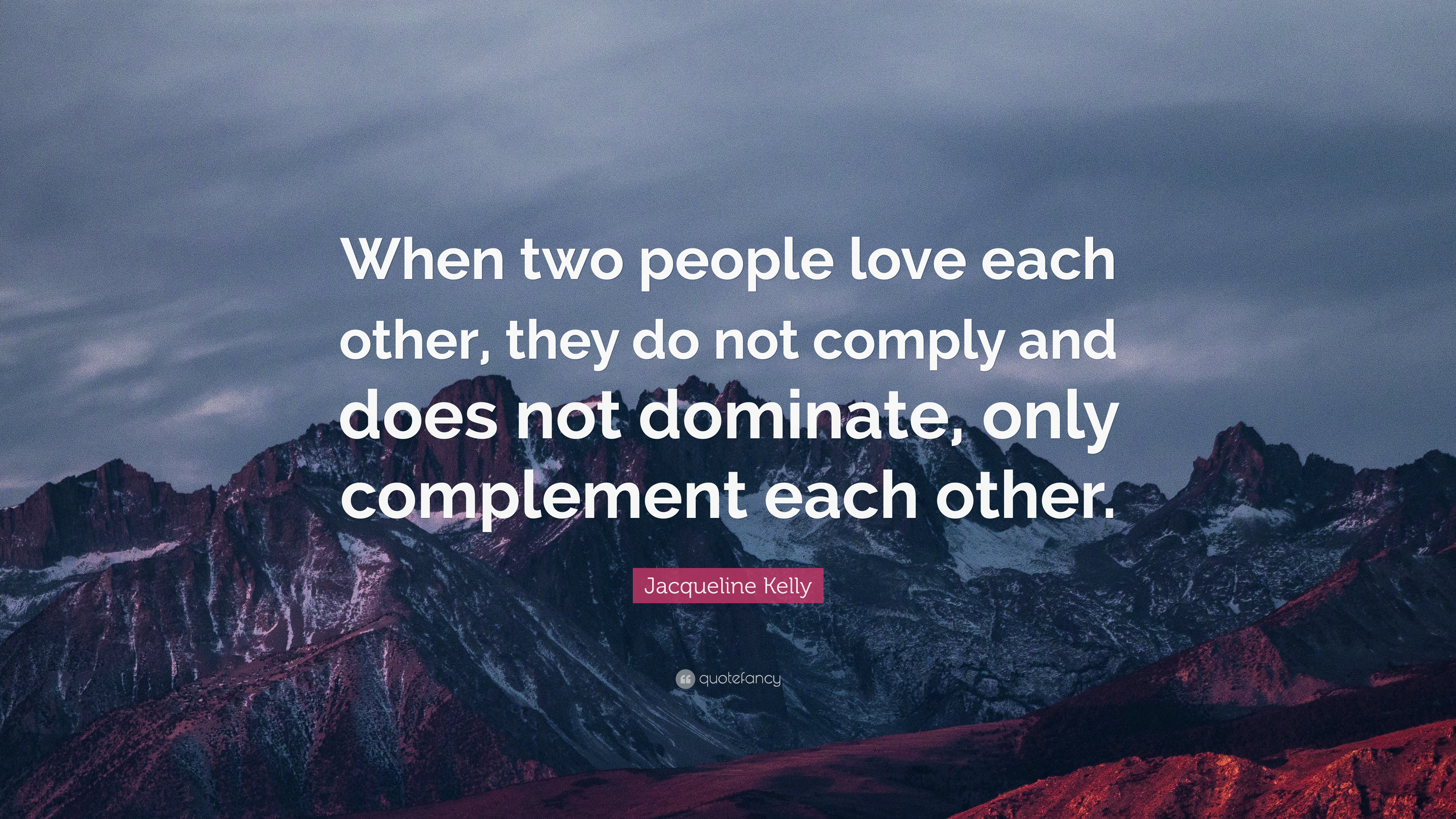 two people love each other