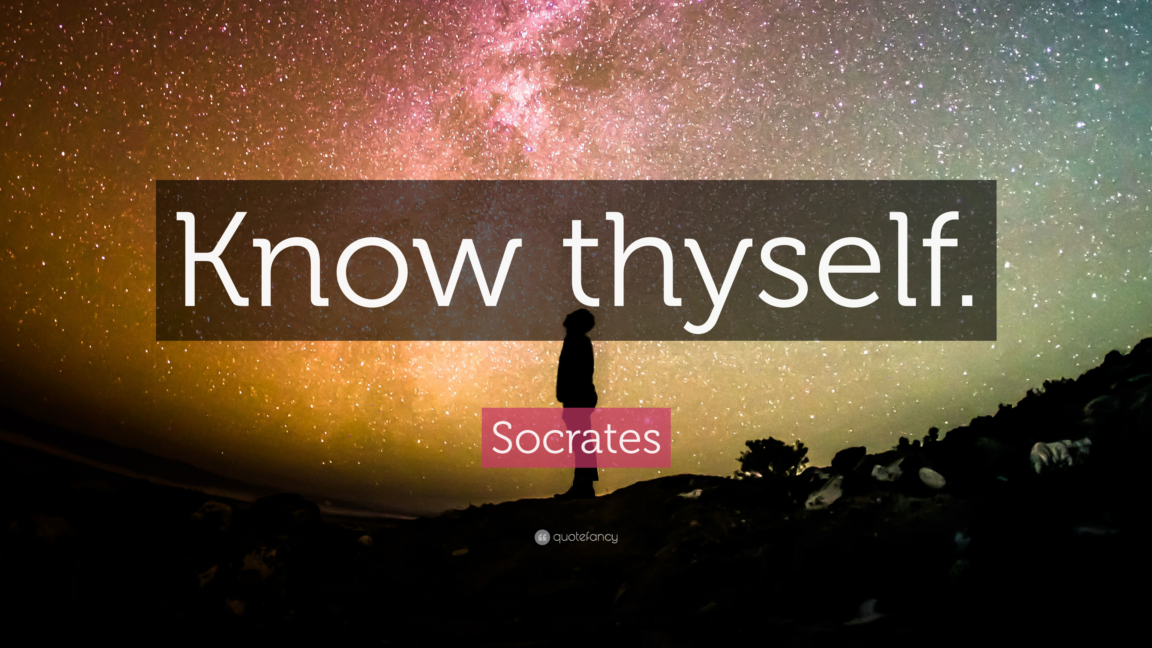 Socrates Quote: Know thyself. (32 wallpapers) - Quotefancy