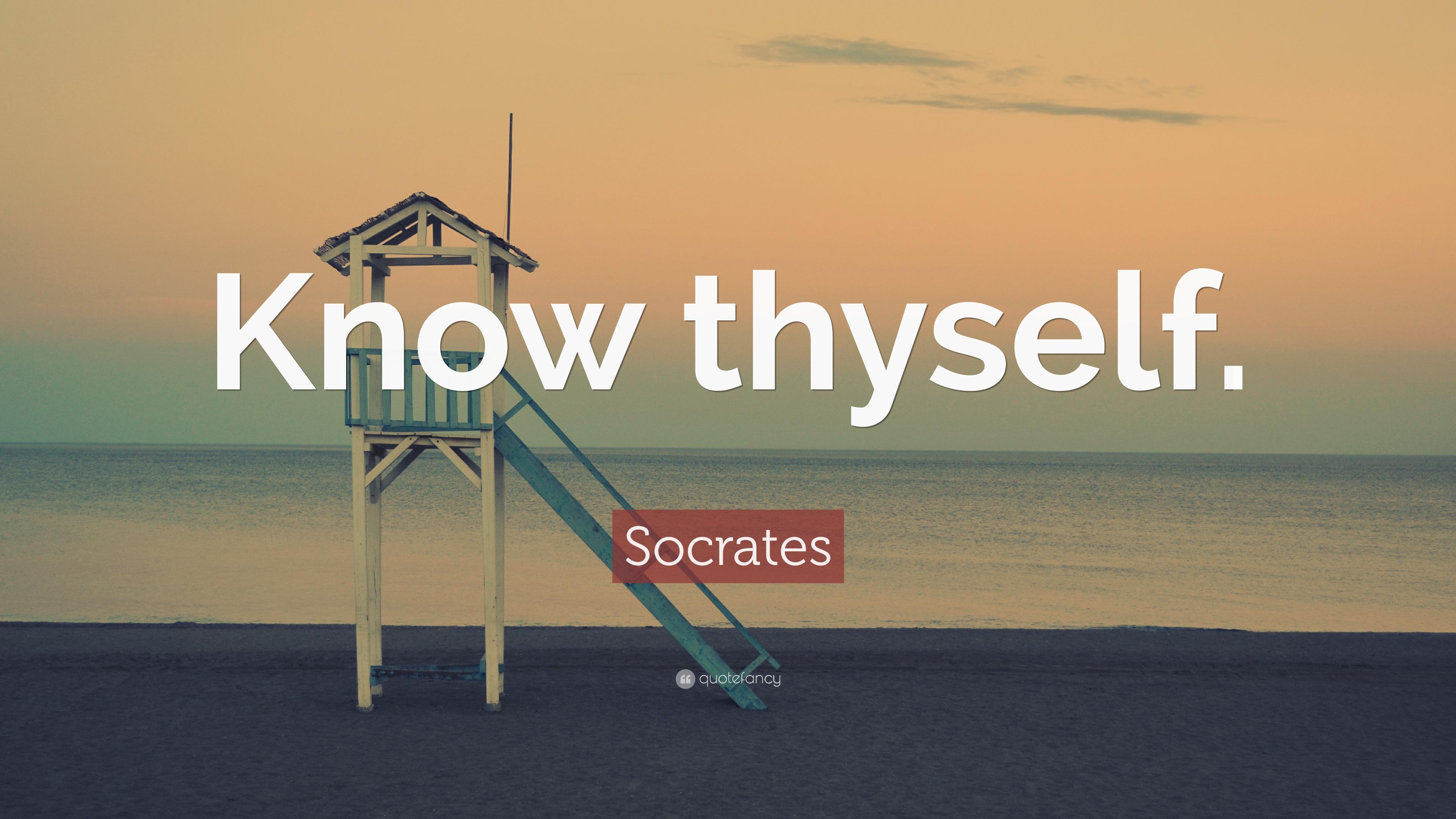 Socrates Quote Know Thyself