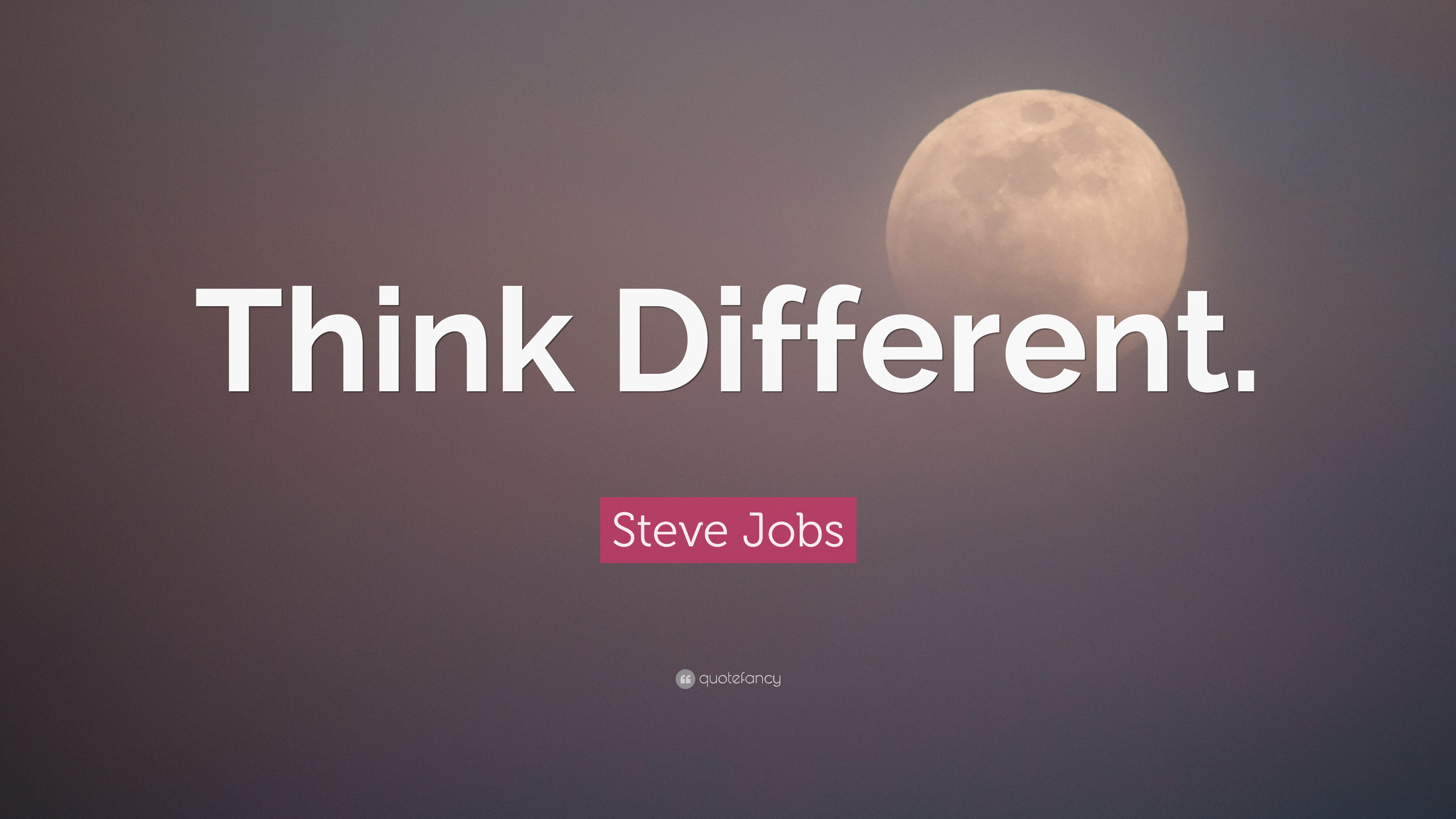 """a787516d5c5 Steve Jobs Quote: """"Think Different."""" (21 wallpapers) - Quotefancy"""