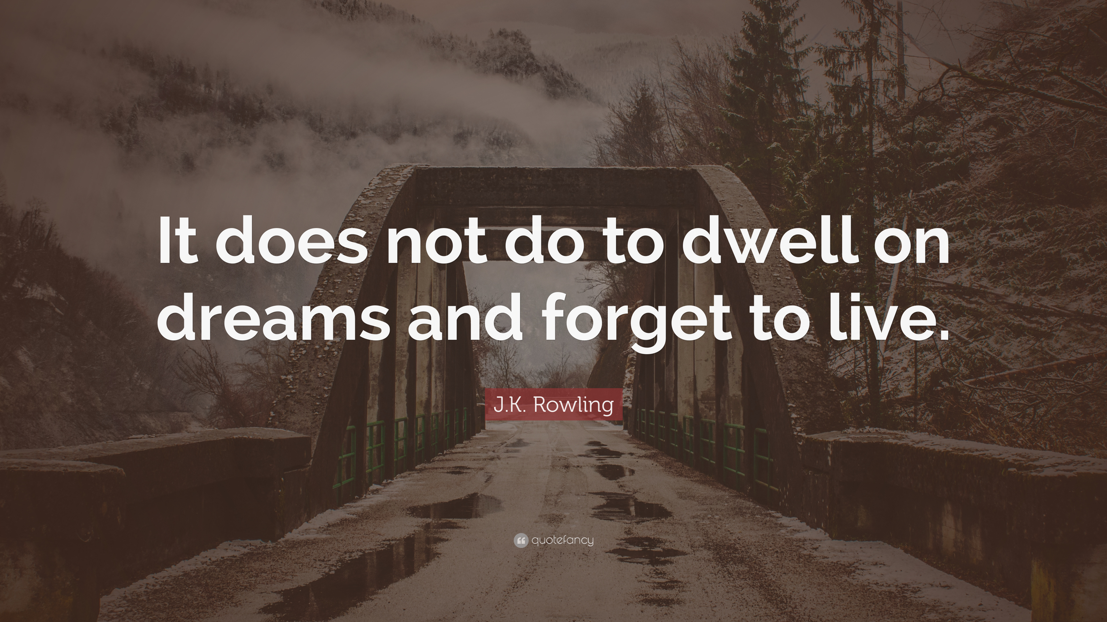 """Do And Frases: J.K. Rowling Quote: """"It Does Not Do To Dwell On Dreams And"""