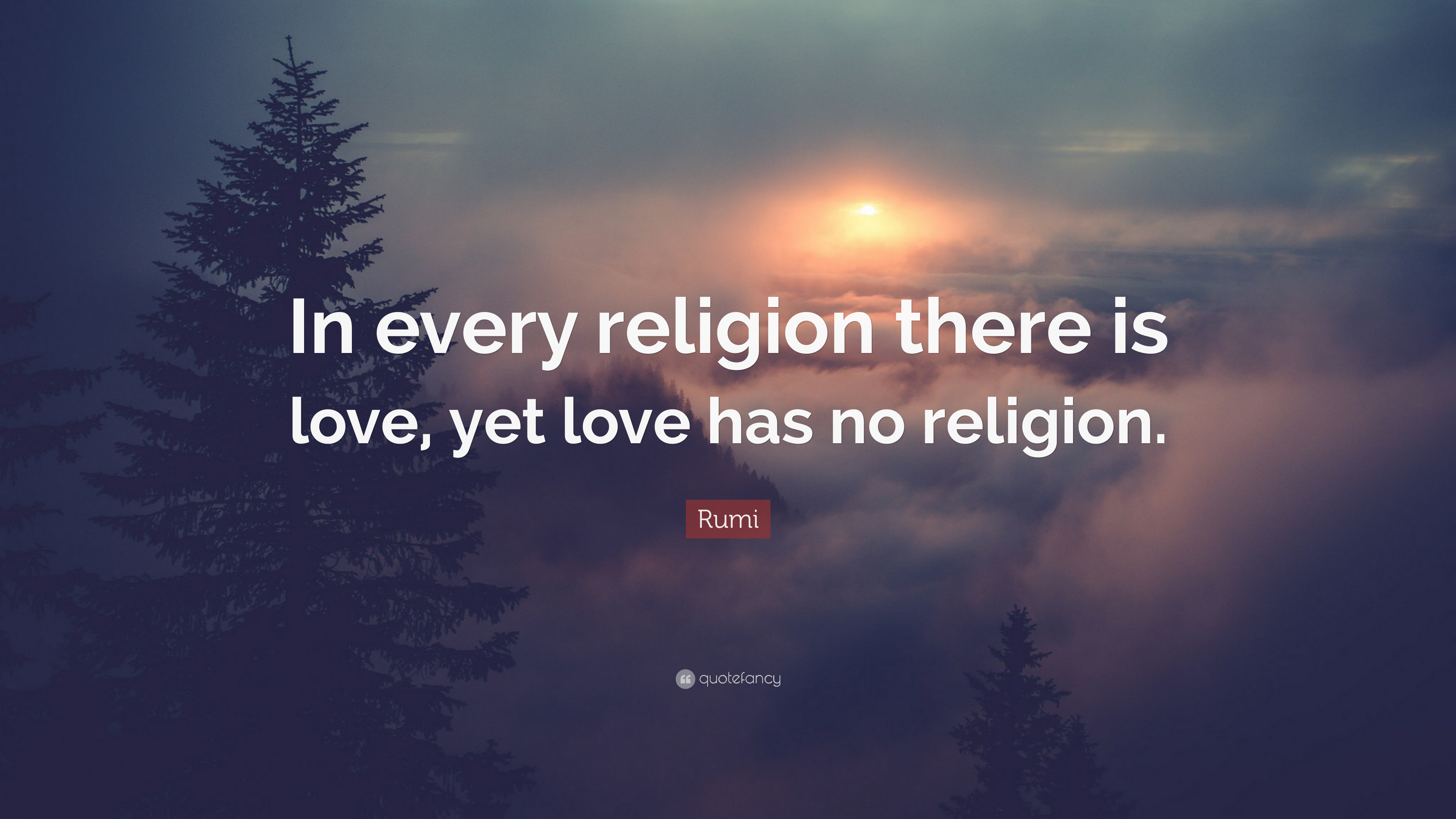 Rumi Quote In Every Religion There Is Love Yet Love Has No