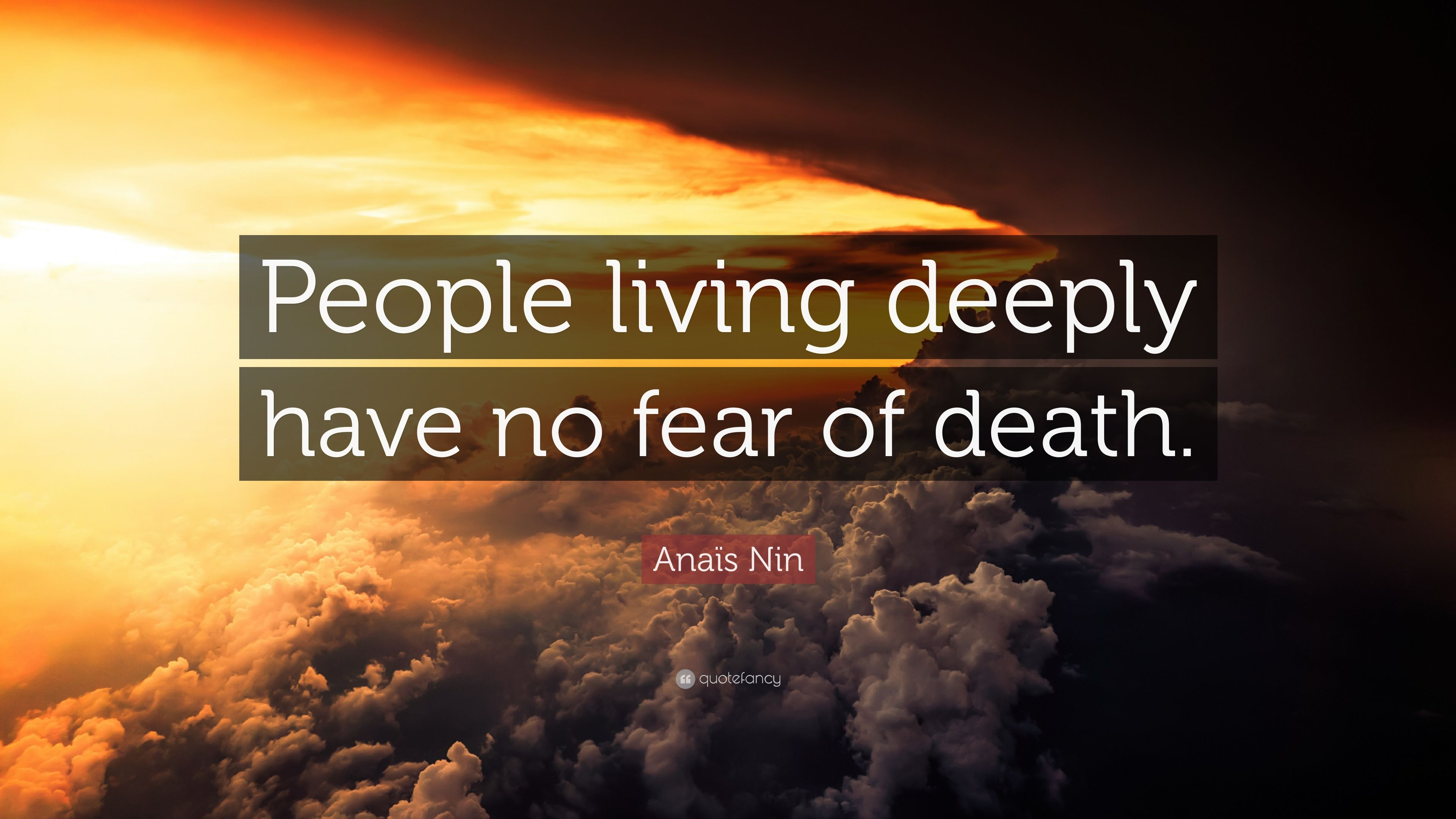 how to stop living in fear of death