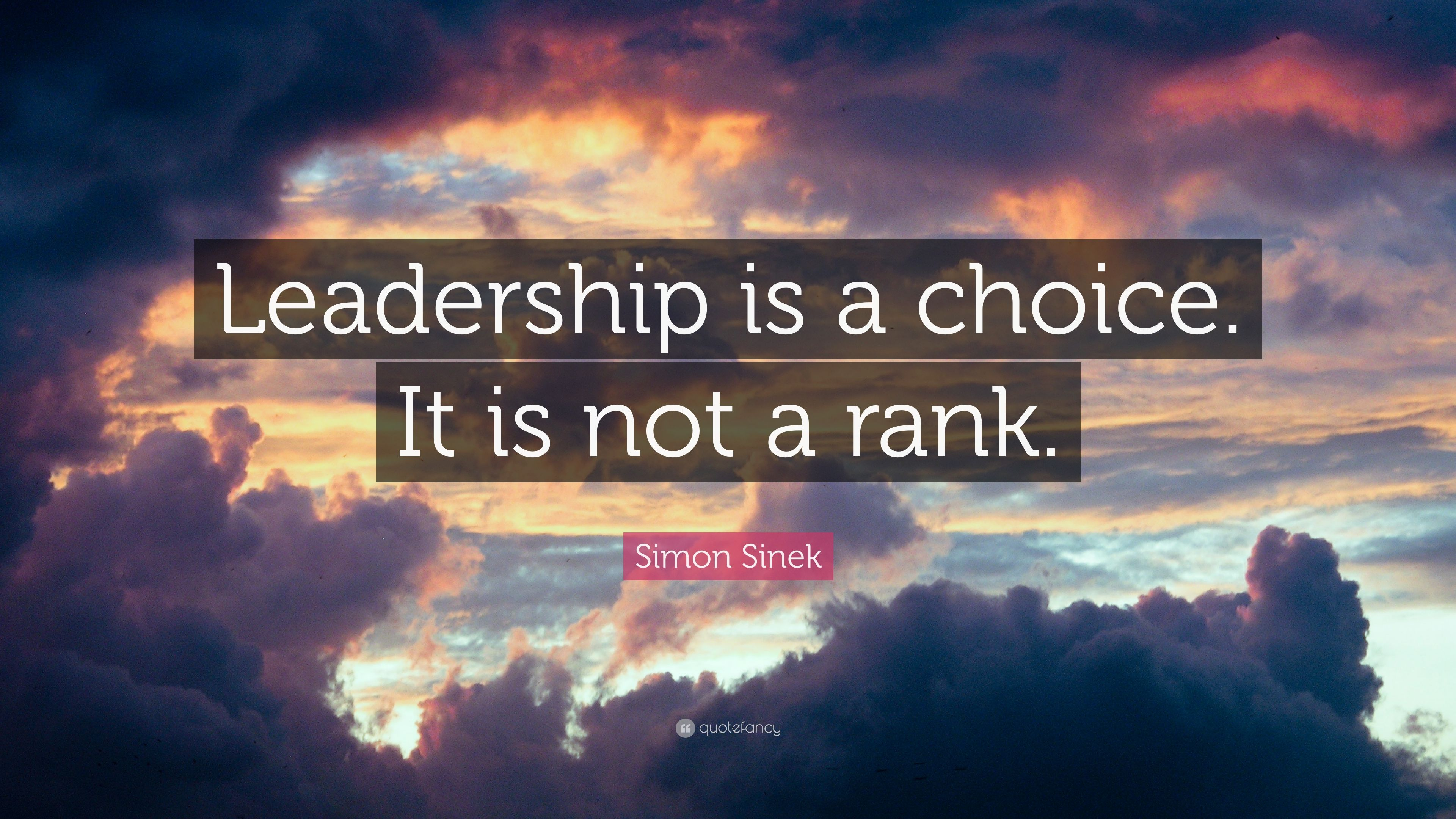 simon sinek quote   u201cleadership is a choice  it is not a