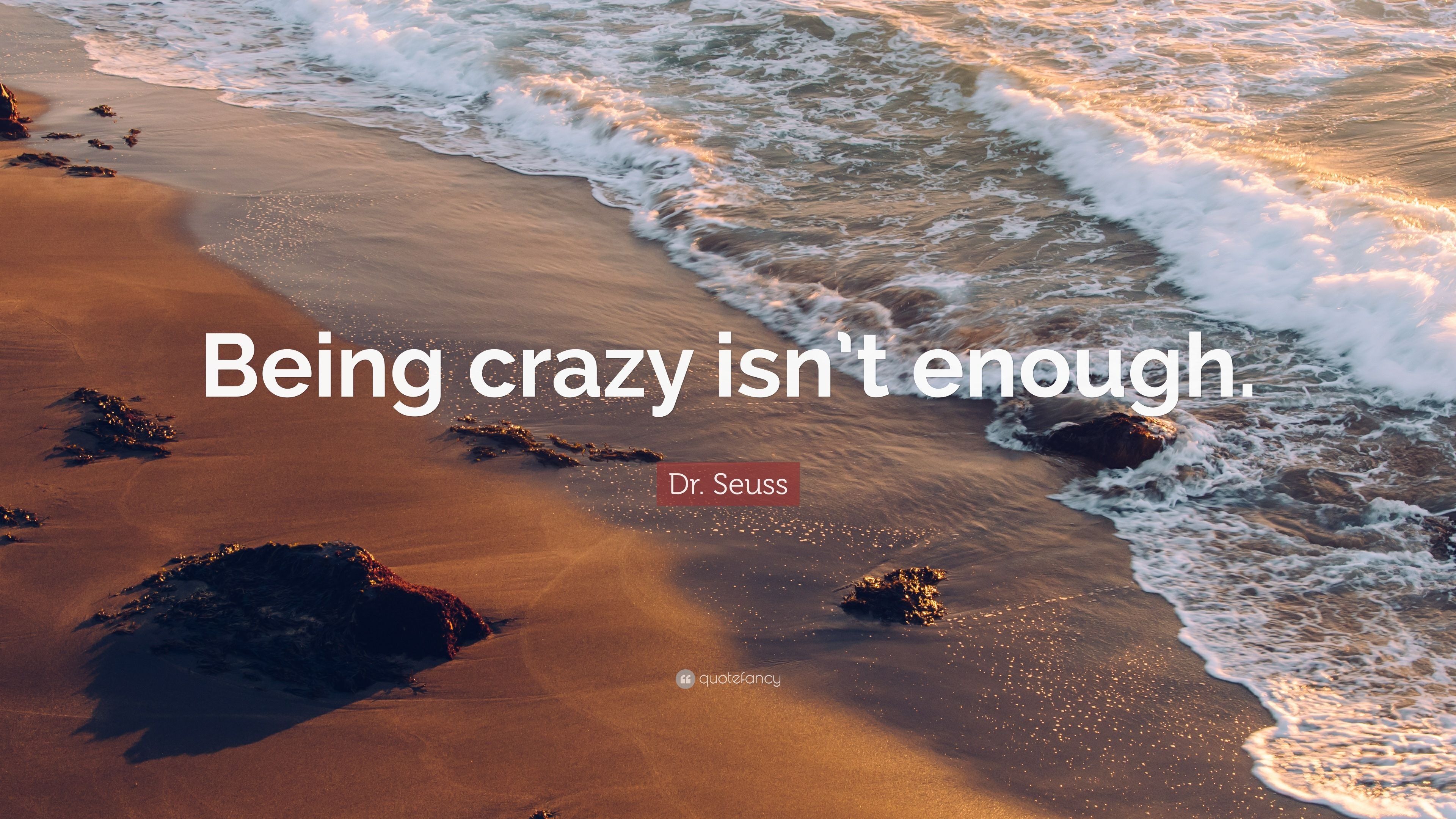 Dr Seuss Quote Being Crazy Isn T Enough 13 Wallpapers