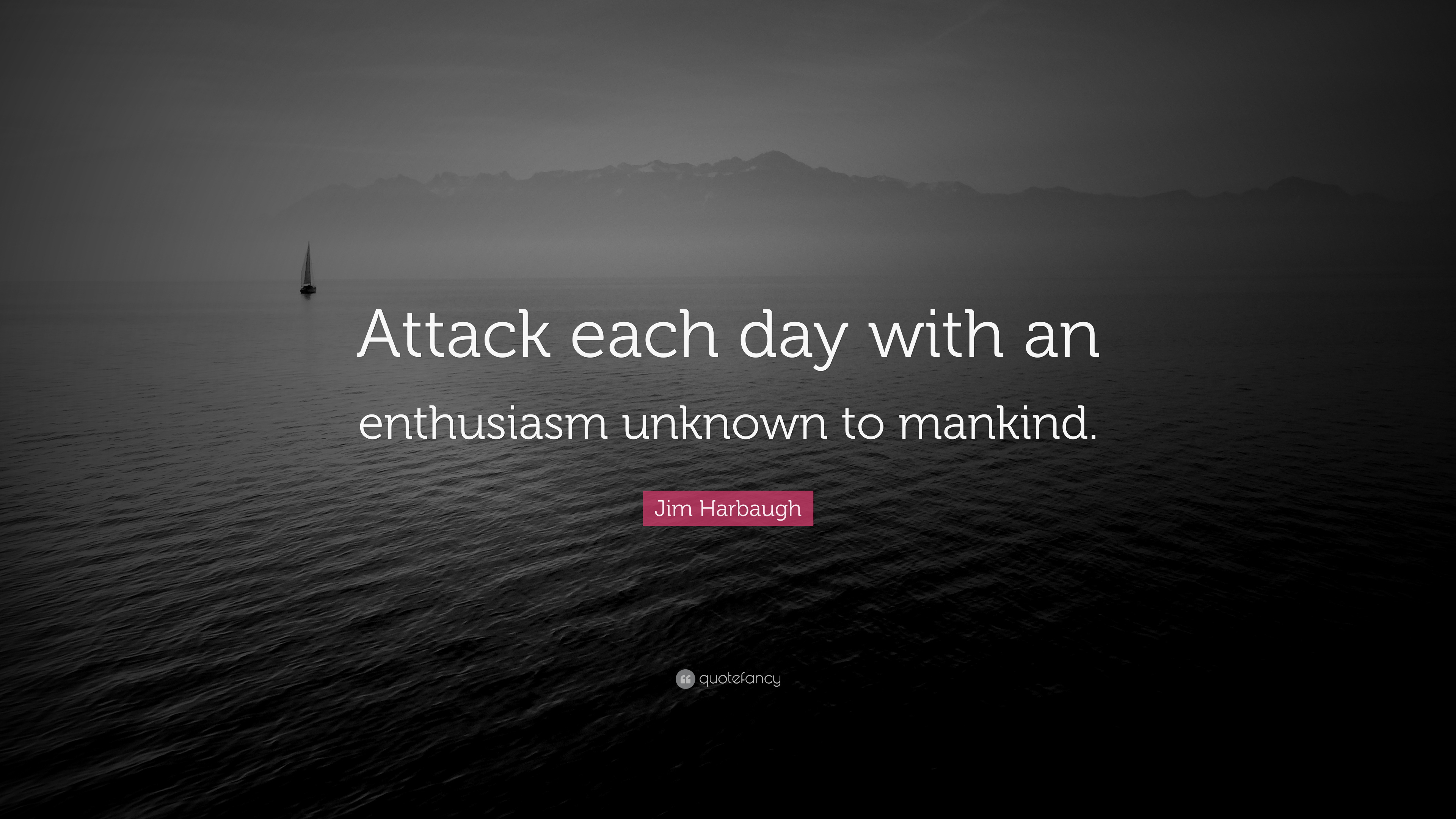 "Jim Harbaugh Quote: ""Attack Each Day With An Enthusiasm"
