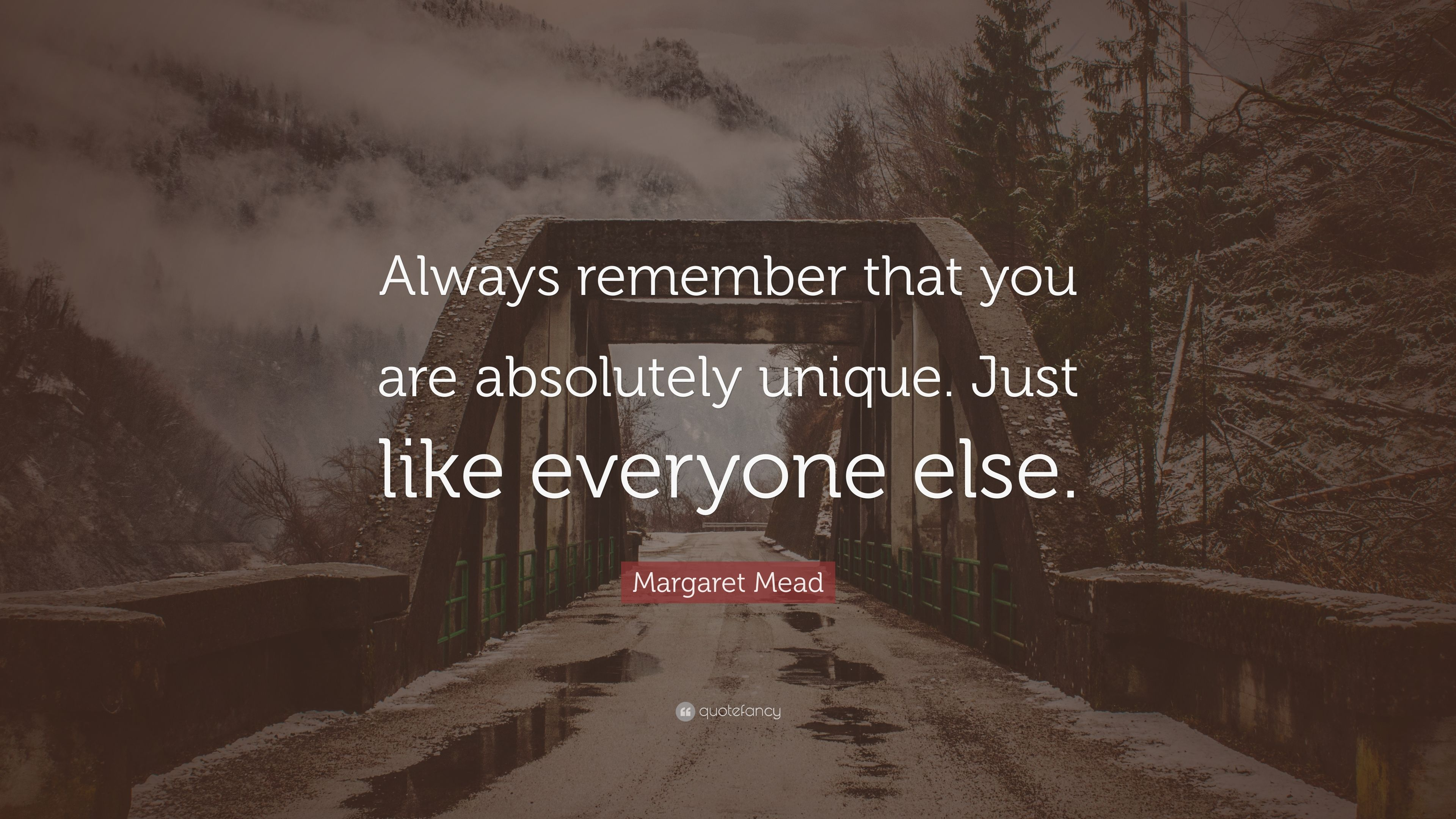 Margaret Mead Quote: Always remember that you are