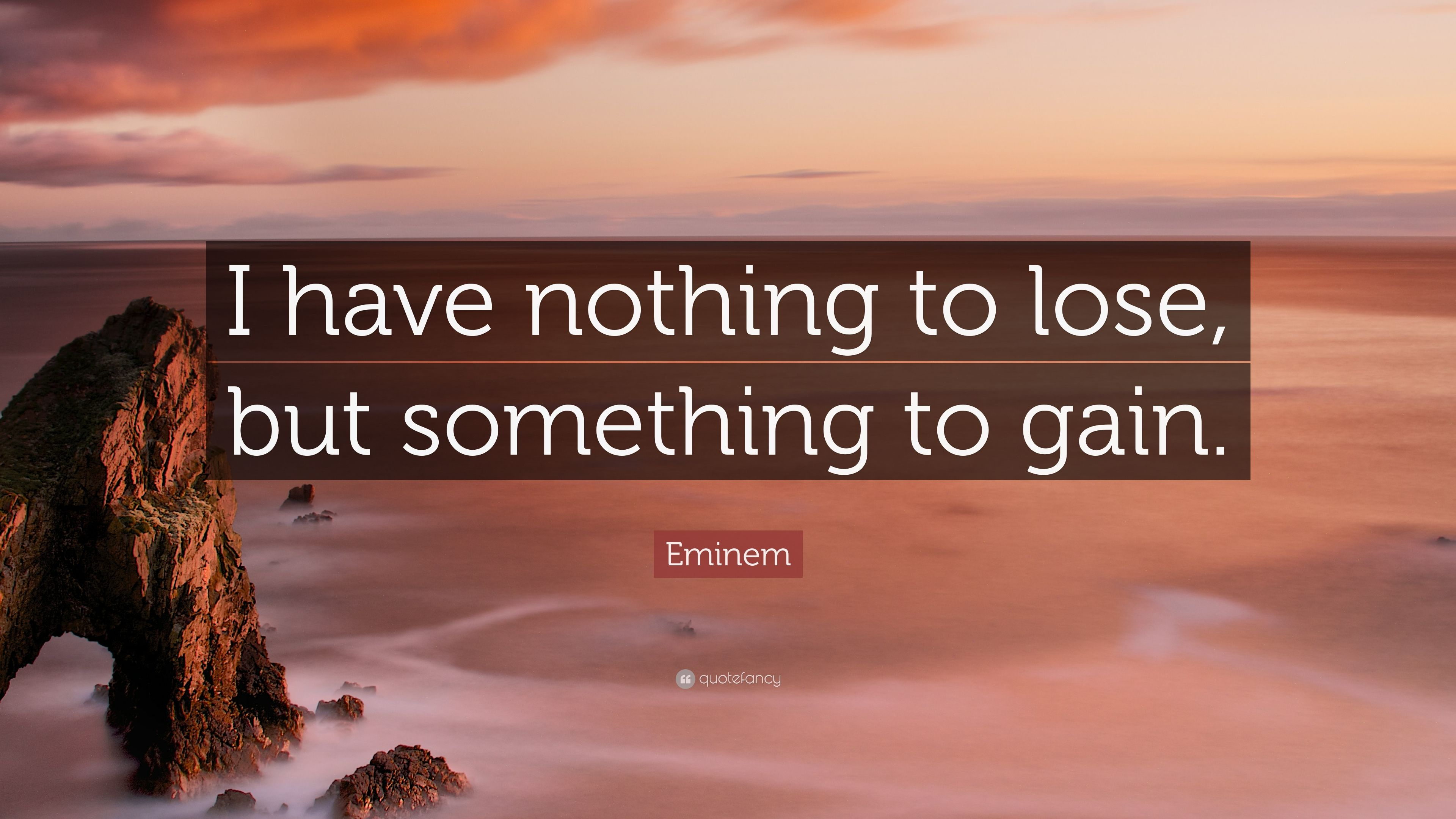 Eminem Quote I Have Nothing To Lose But Something To Gain 9