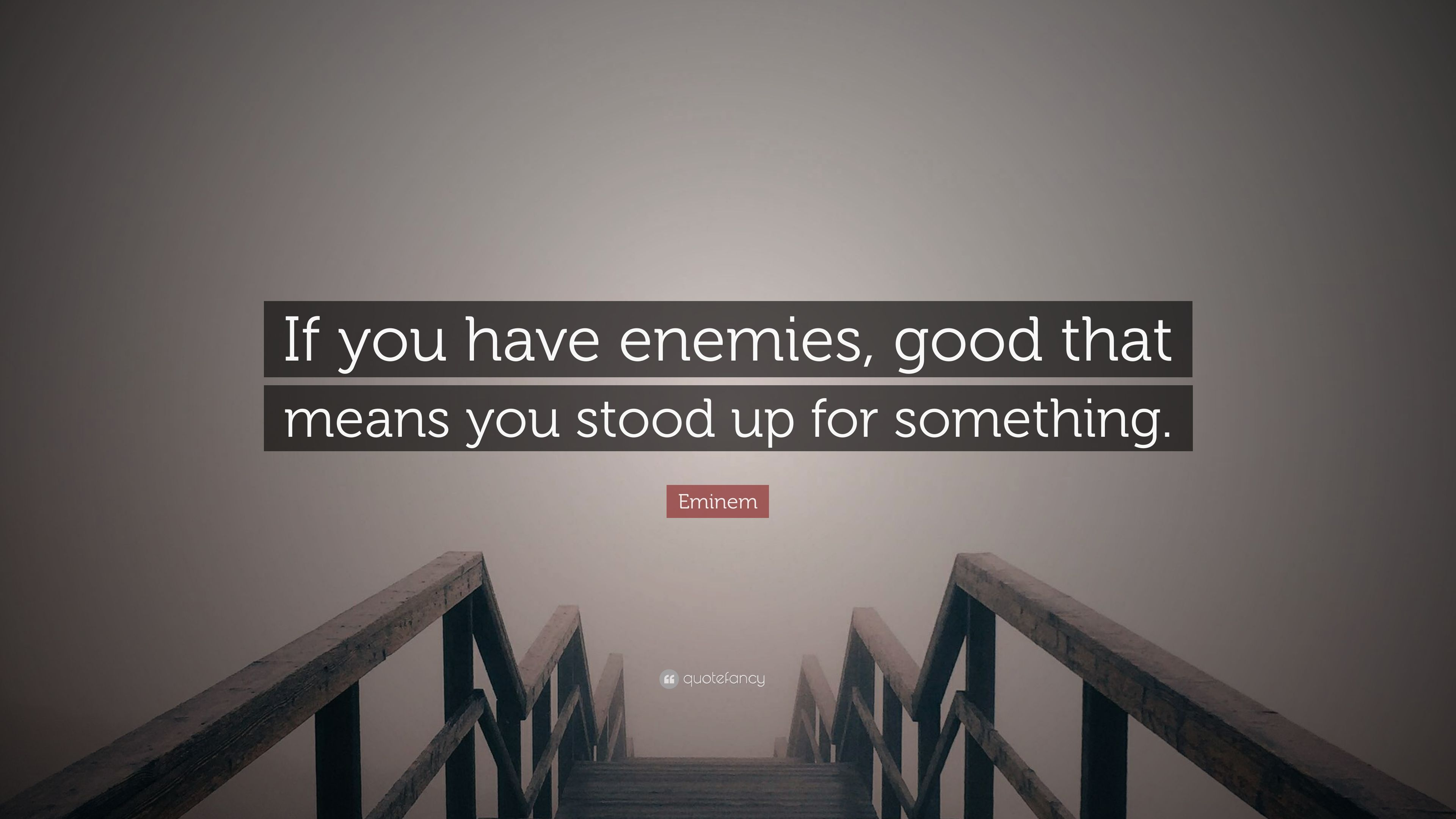 Eminem Quote If You Have Enemies Good That Means You Stood Up For