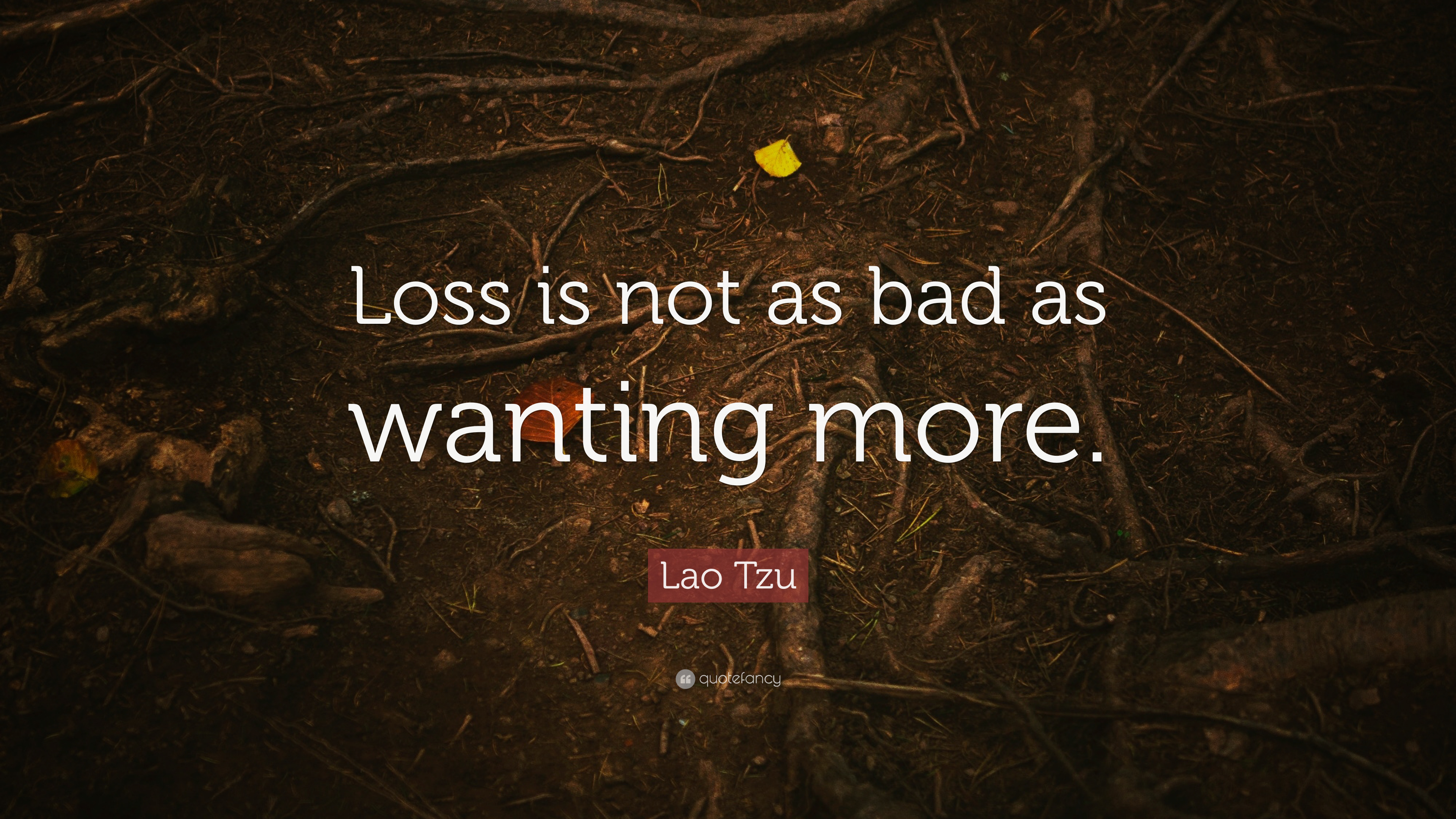 Lao Tzu Quote Loss Is Not As Bad As Wanting More 12 Wallpapers