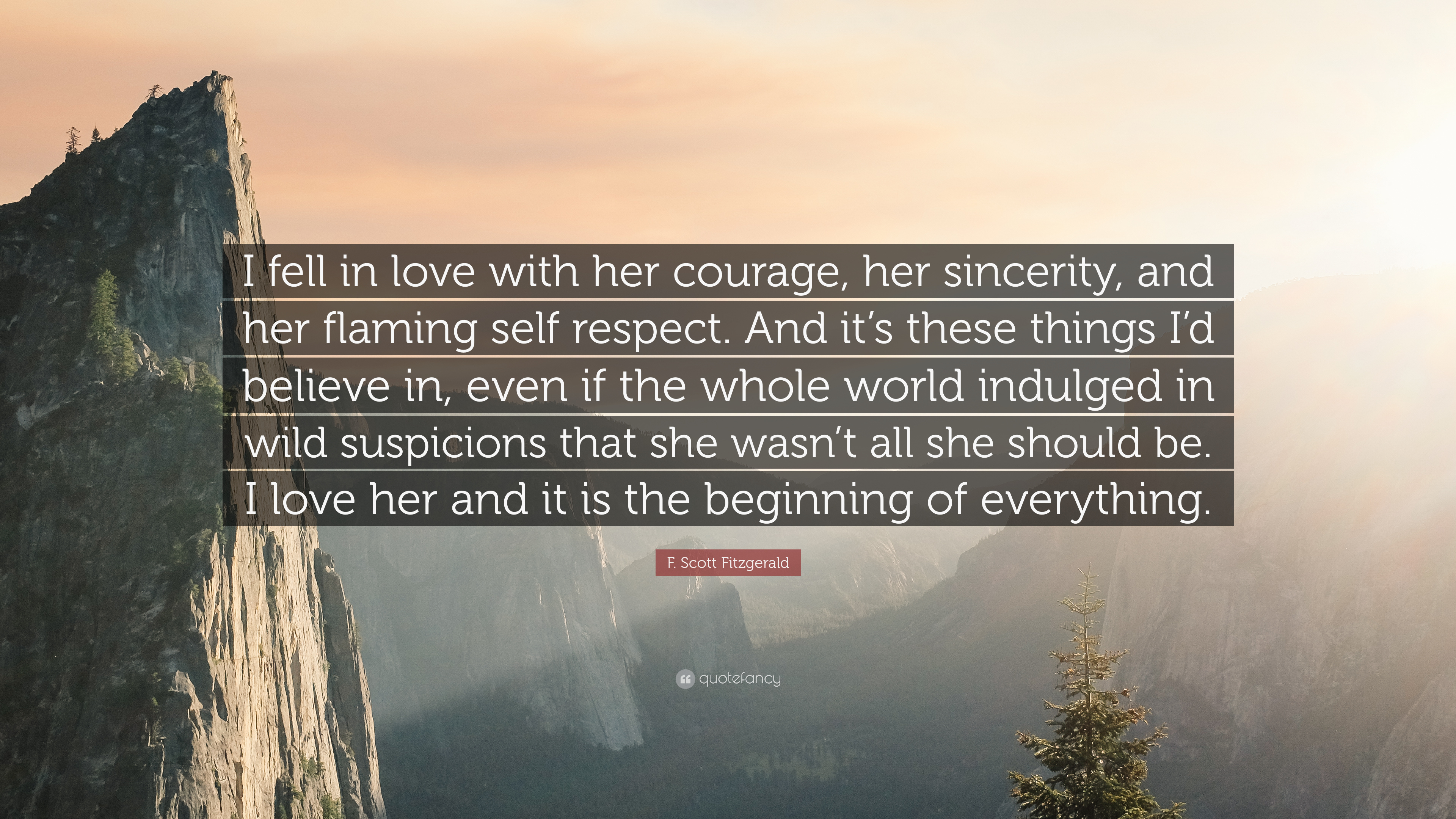 "F. Scott Fitzgerald Quote: ""I Fell In Love With Her"