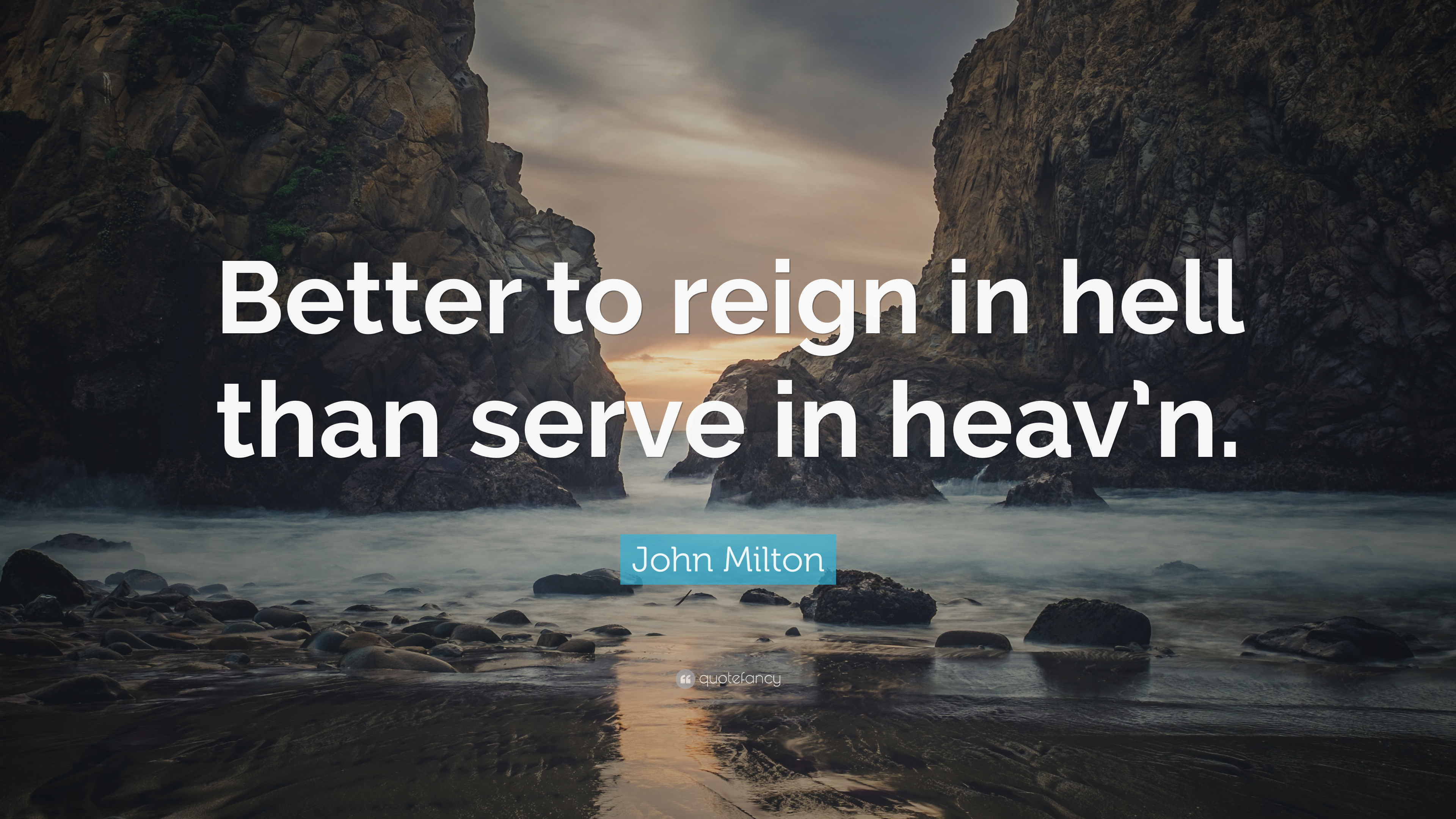 better to rule in hell than serve in heaven