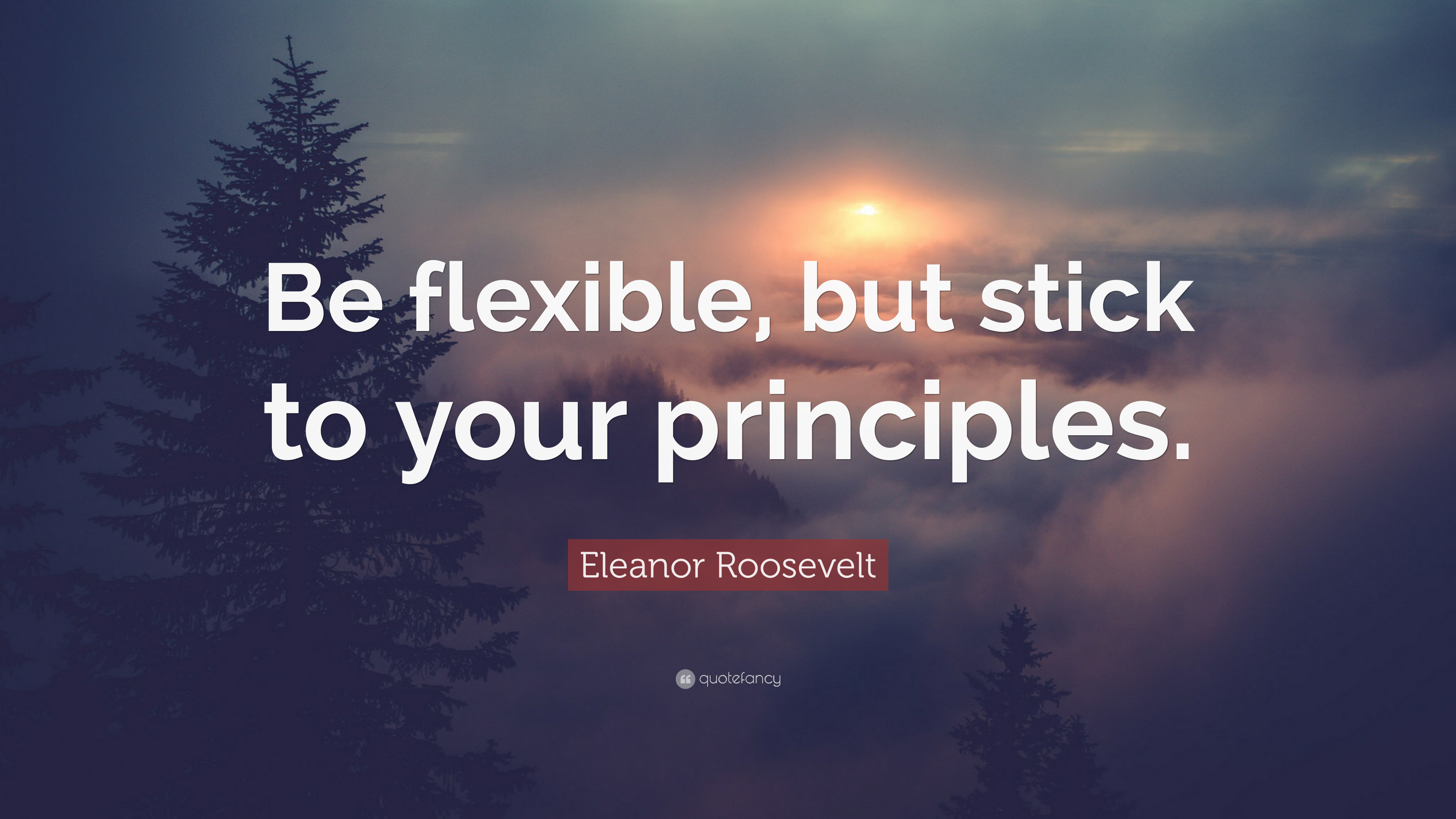 "Eleanor Roosevelt Quote: ""Be Flexible, But Stick To Your"