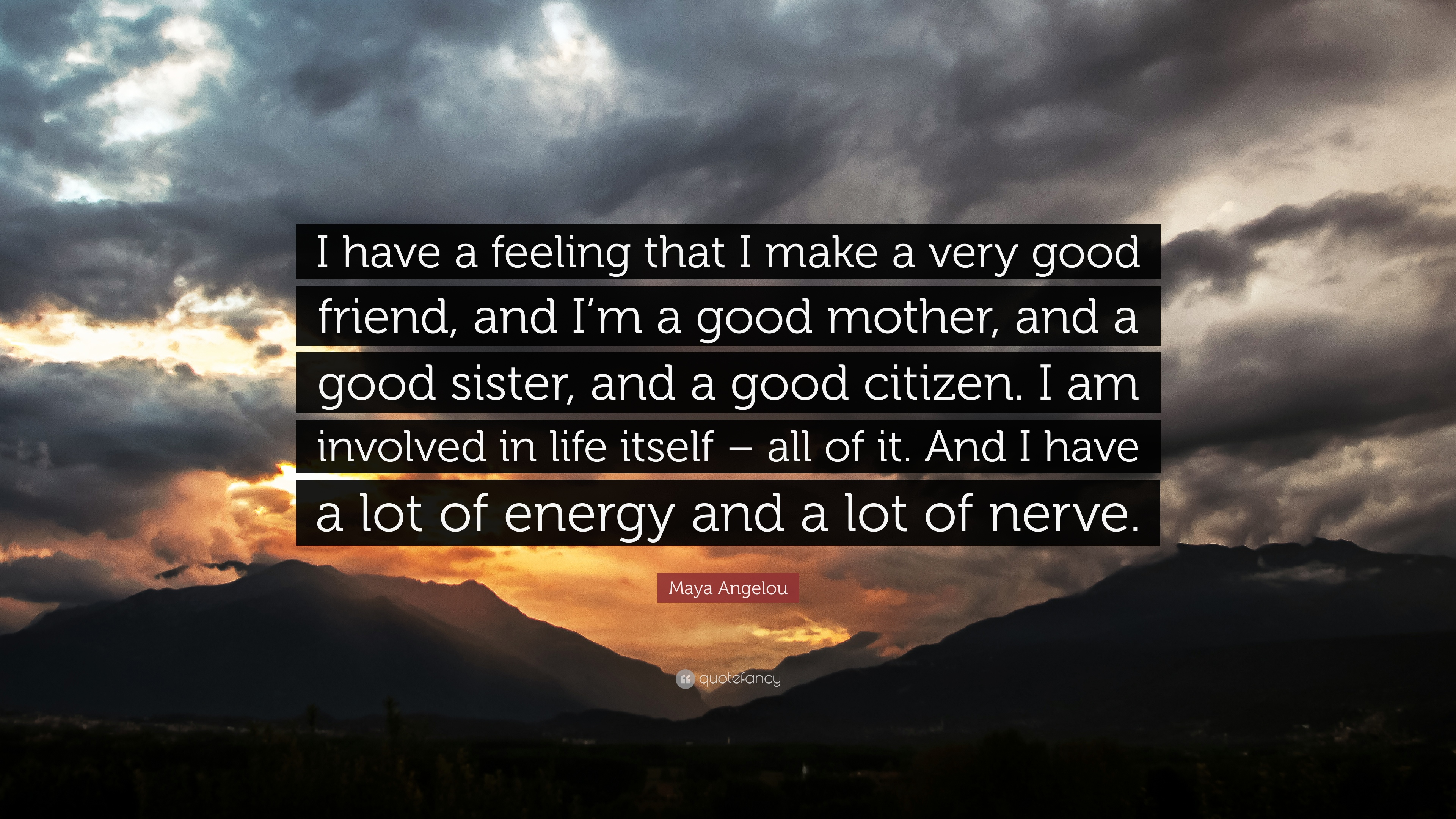 Maya Angelou Quote I Have A Feeling That I Make A Very Good Friend