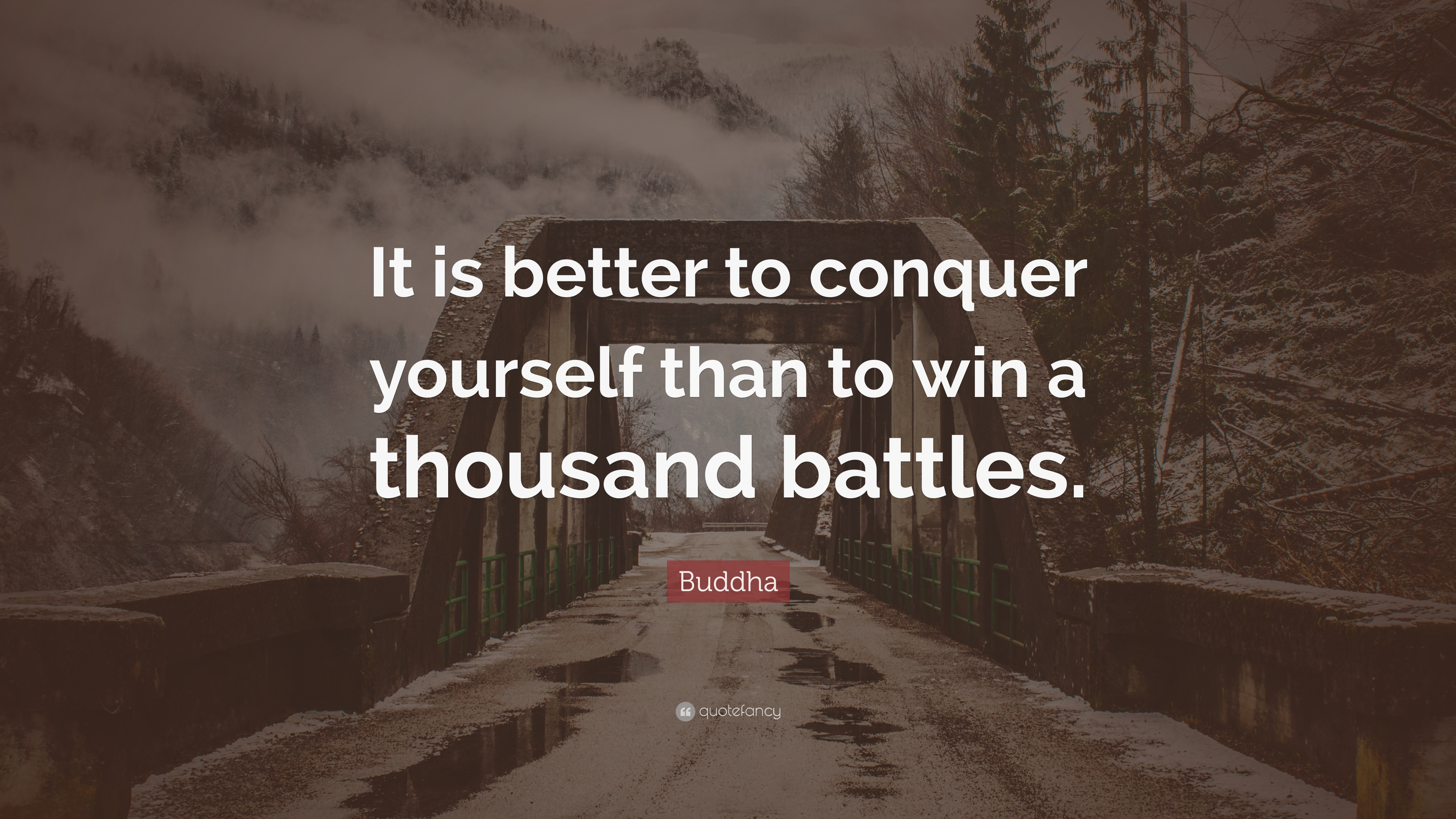 Buddha Quote It Is Better To Conquer Yourself Than To Win A
