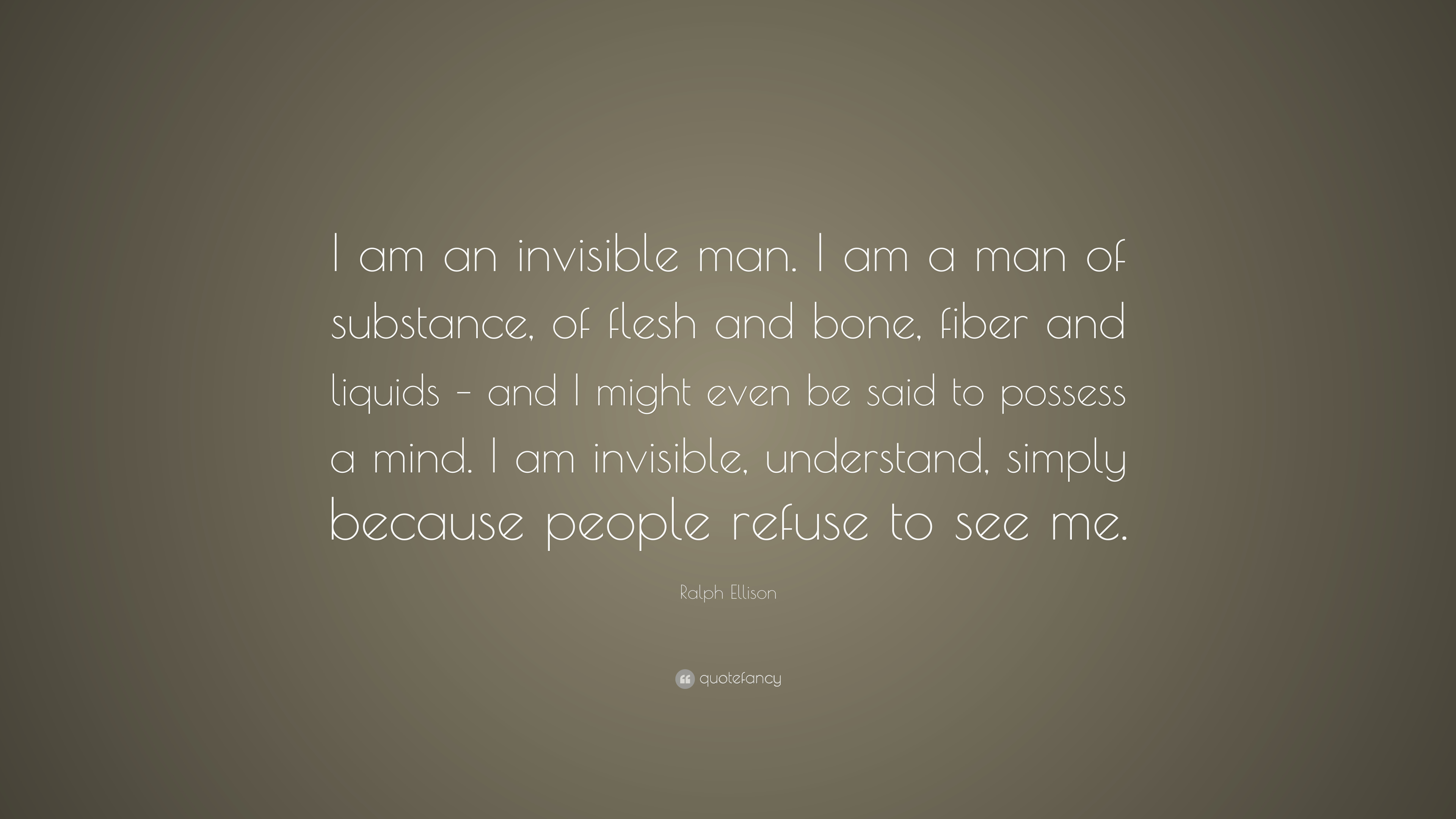 Invisible Man Quotes