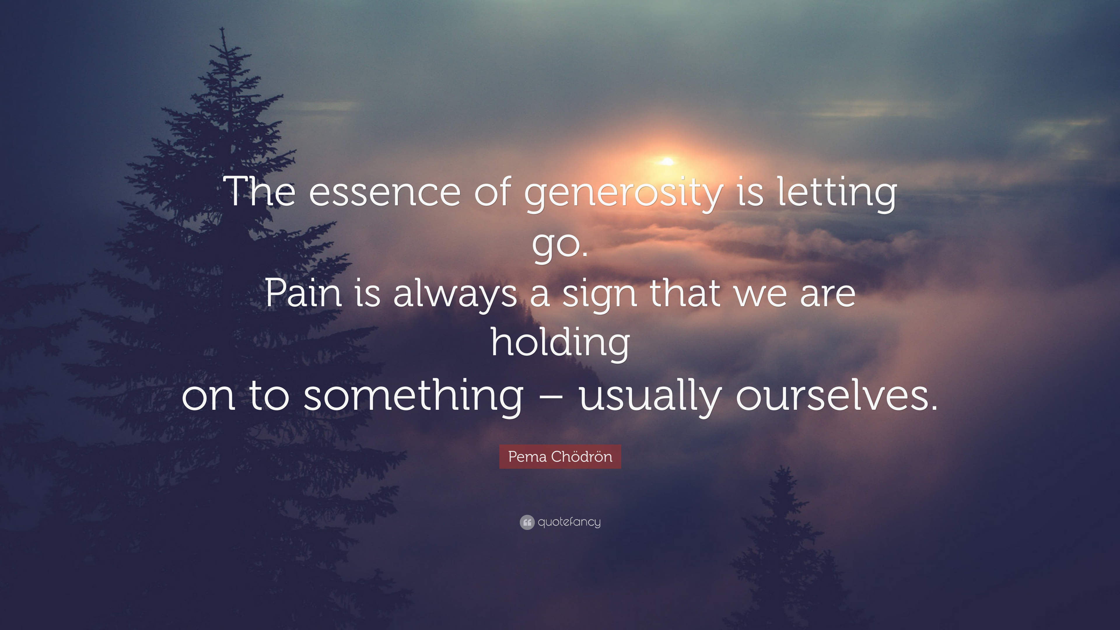 "Pema Chodron Quotes Pema Chödrön Quote ""The Essence Of Generosity Is Letting Gopain"