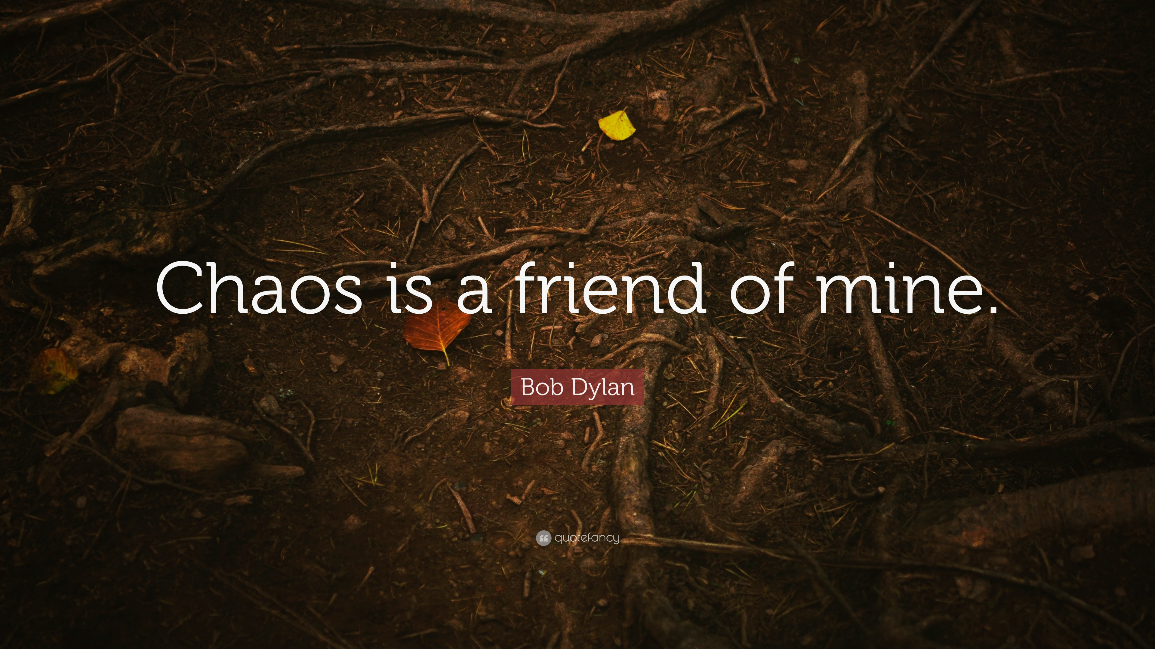 Bob Dylan Quote Chaos Is A Friend Of Mine