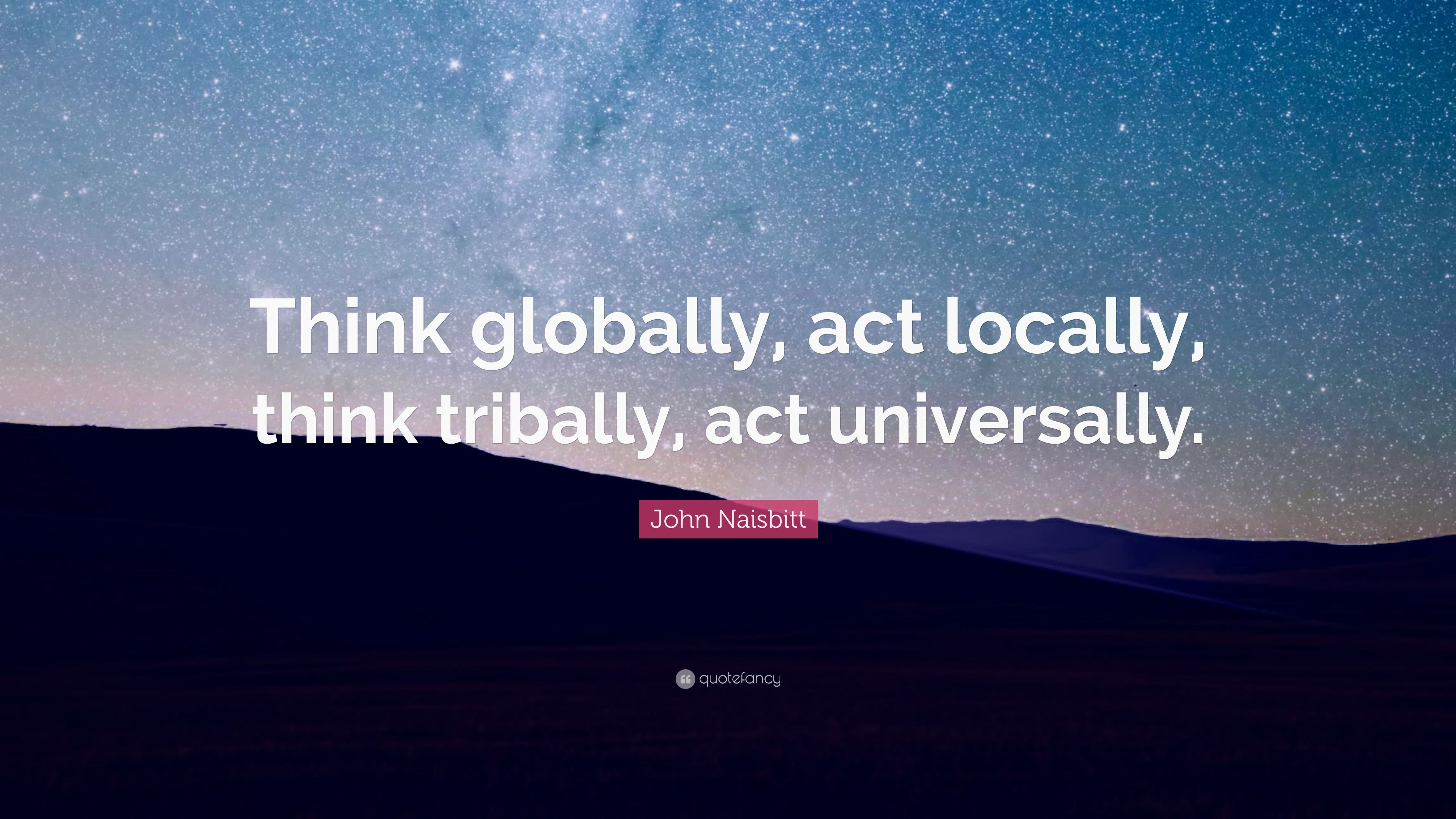 Think globally act locally essay help