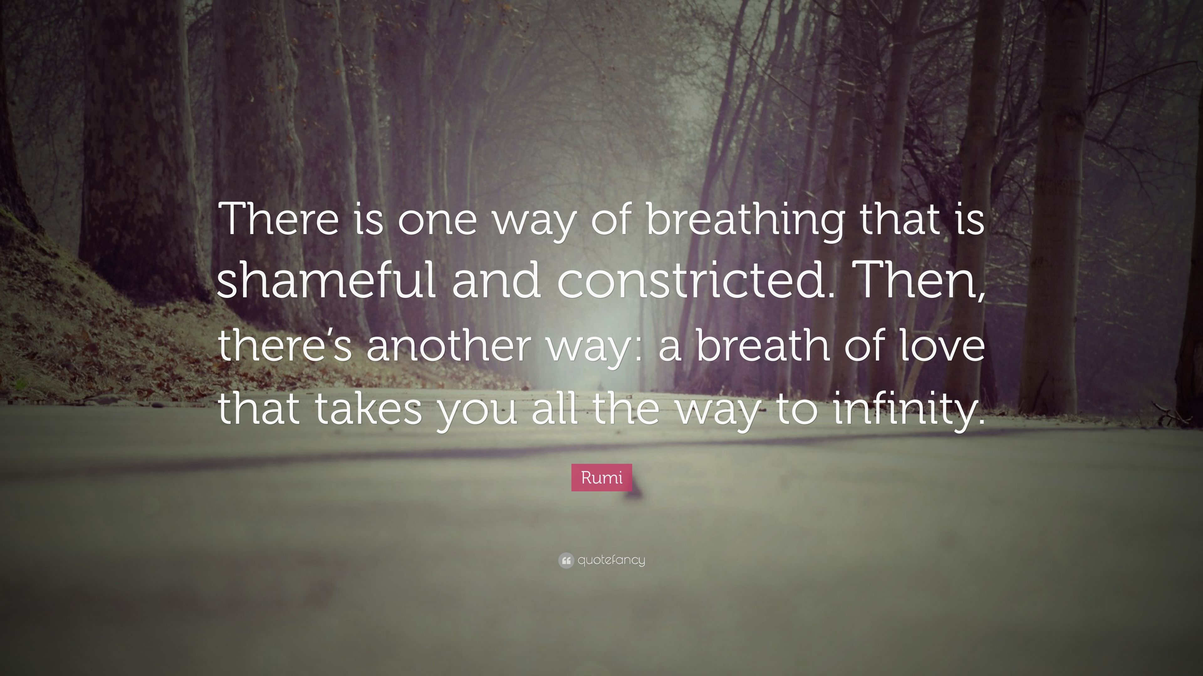 Rumi Quote There Is One Way Of Breathing That Is Shameful And