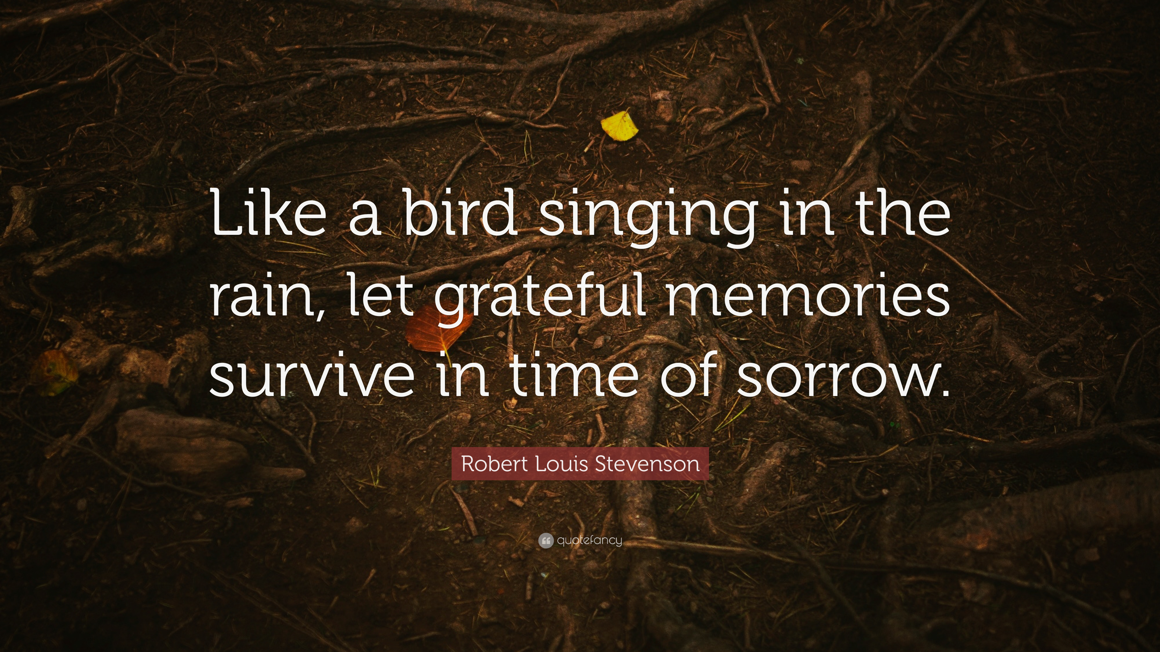 """Robert Louis Stevenson Quote: """"Like A Bird Singing In The"""