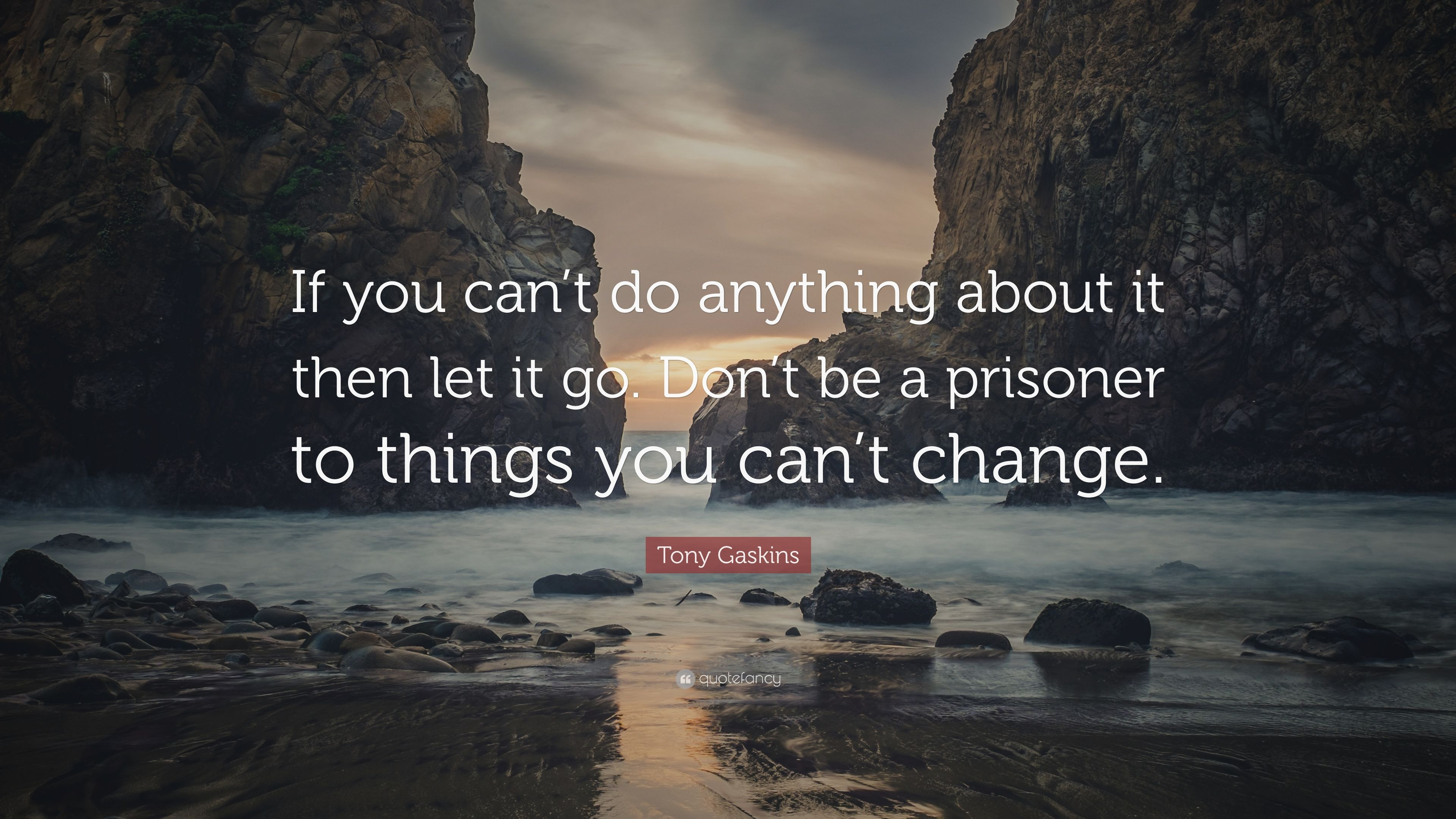 Tony Gaskins Quote: If you cant do anything about it