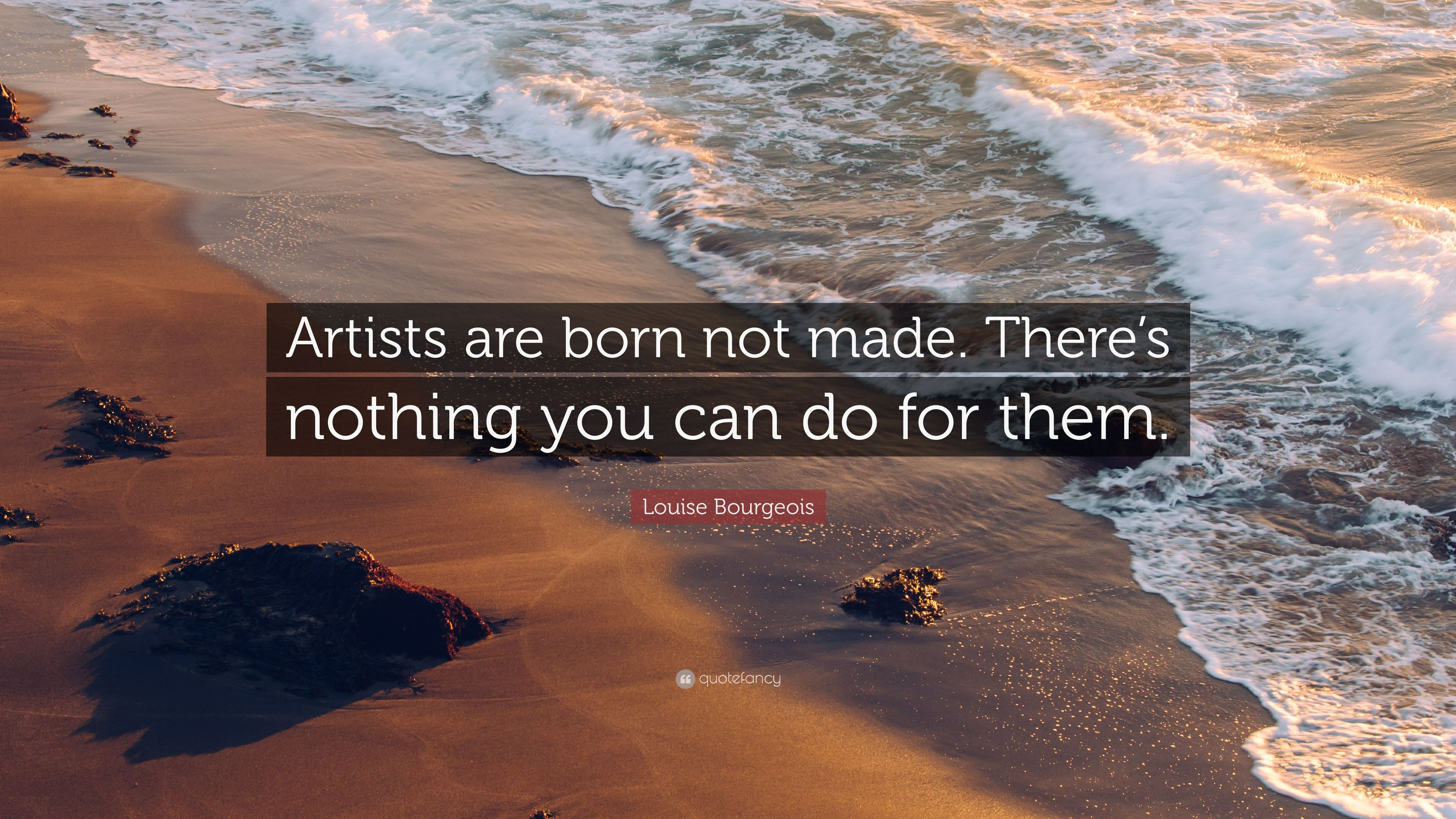 are artists born or made