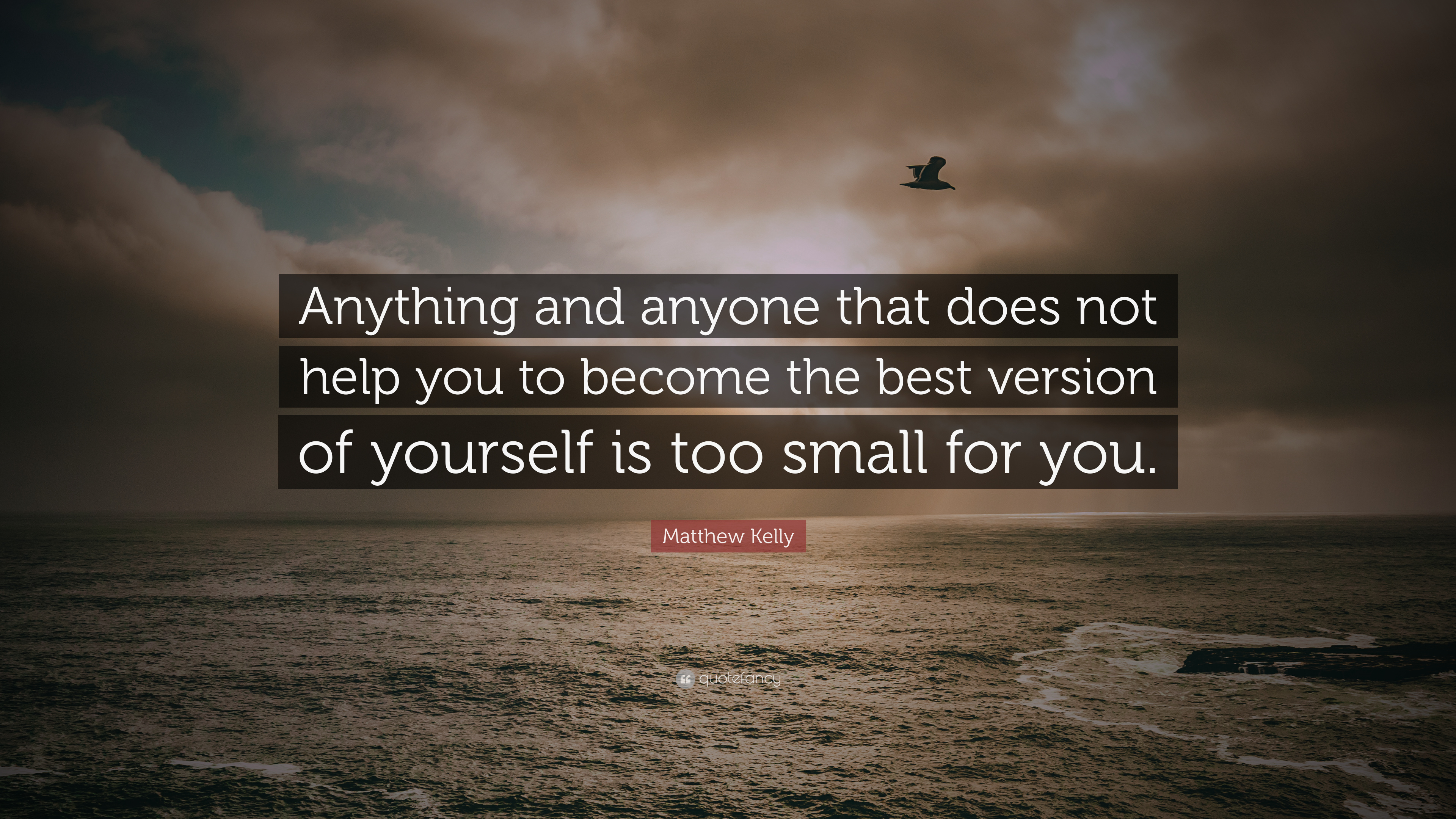 """Matthew Kelly Quote: """"Anything And Anyone That Does Not"""