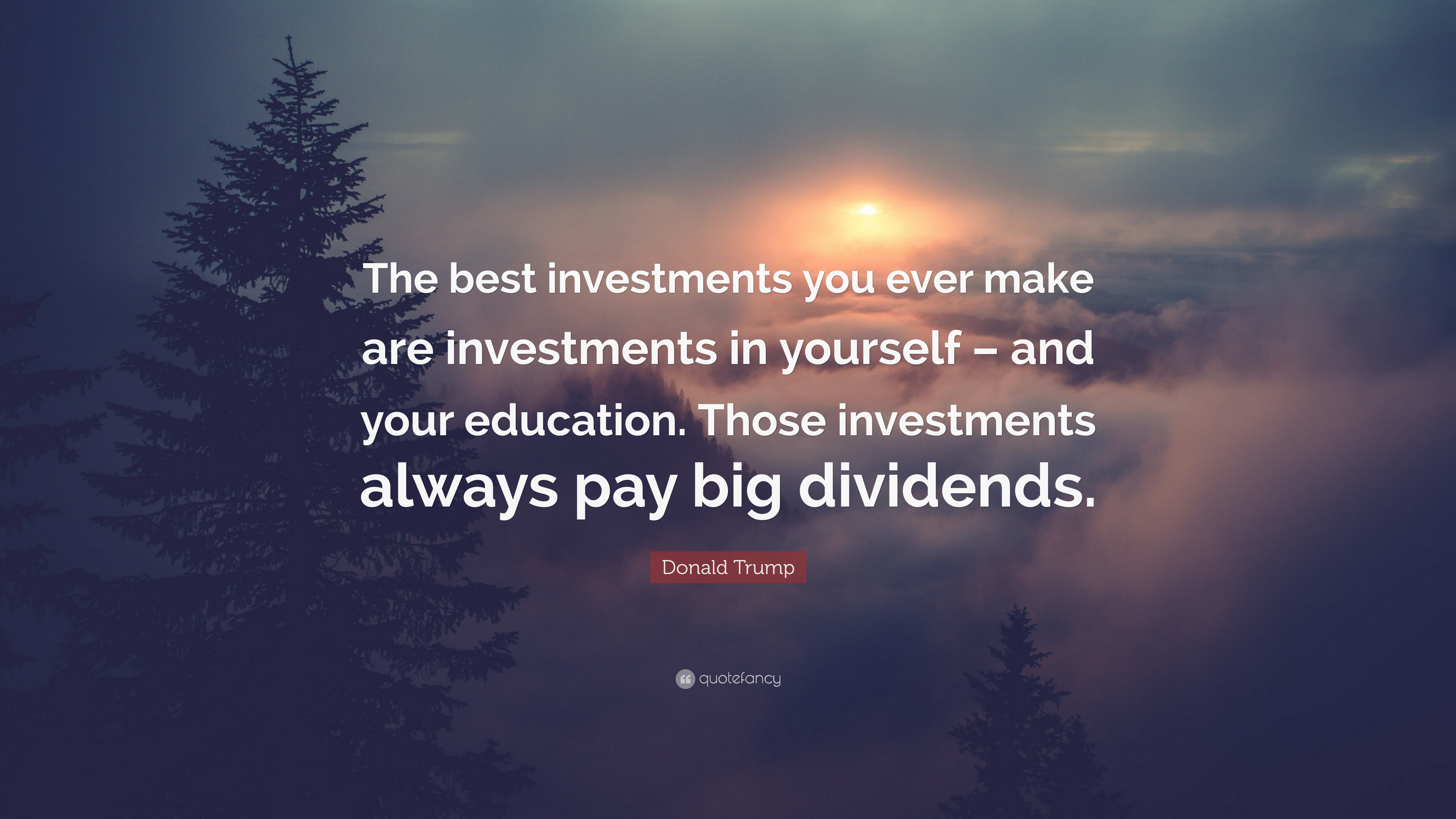 "Donald Trump Quote: ""The Best Investments You Ever Make"
