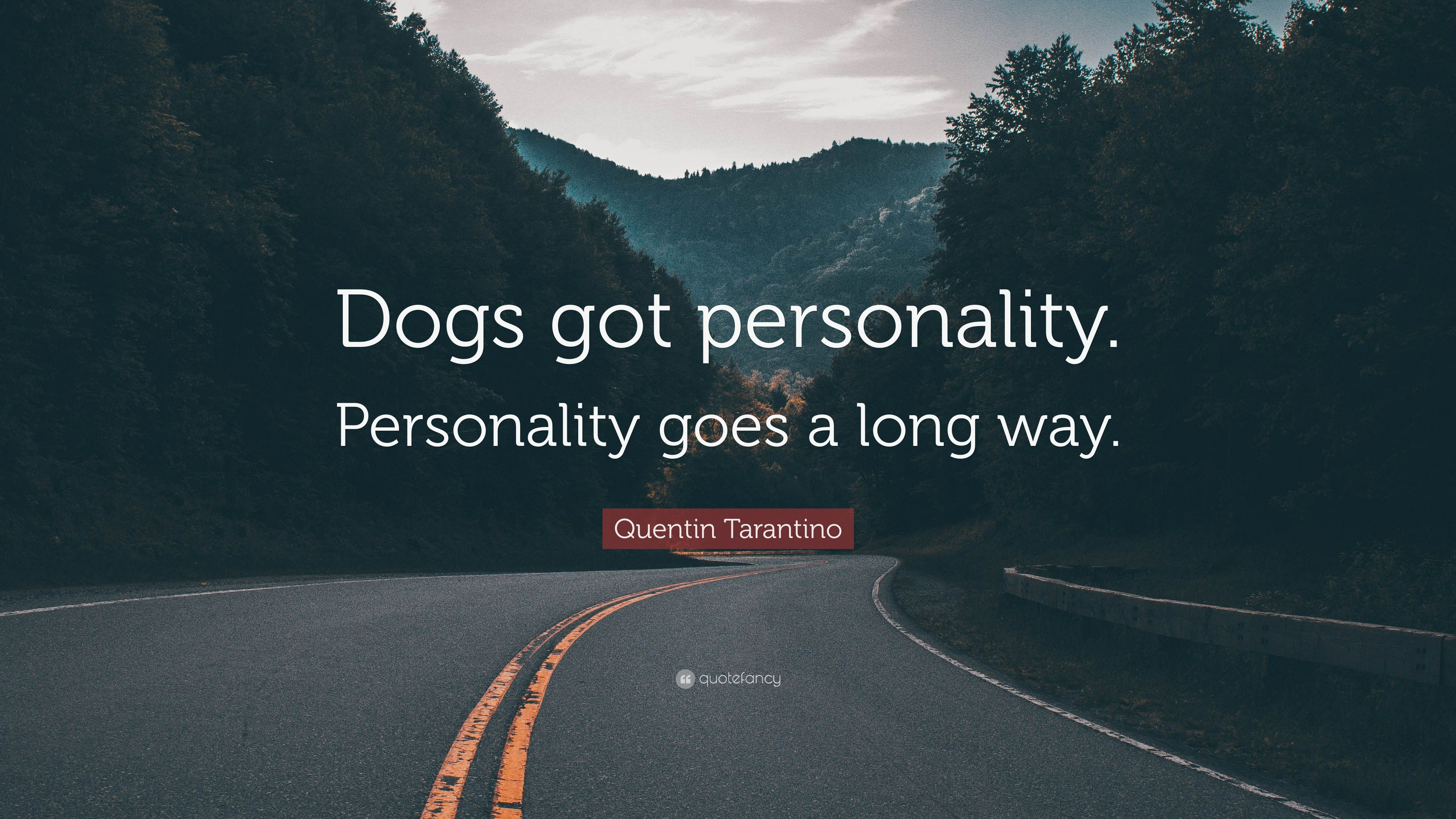 quentin tarantino quote dogs got personality personality goes a long way 12 wallpapers. Black Bedroom Furniture Sets. Home Design Ideas