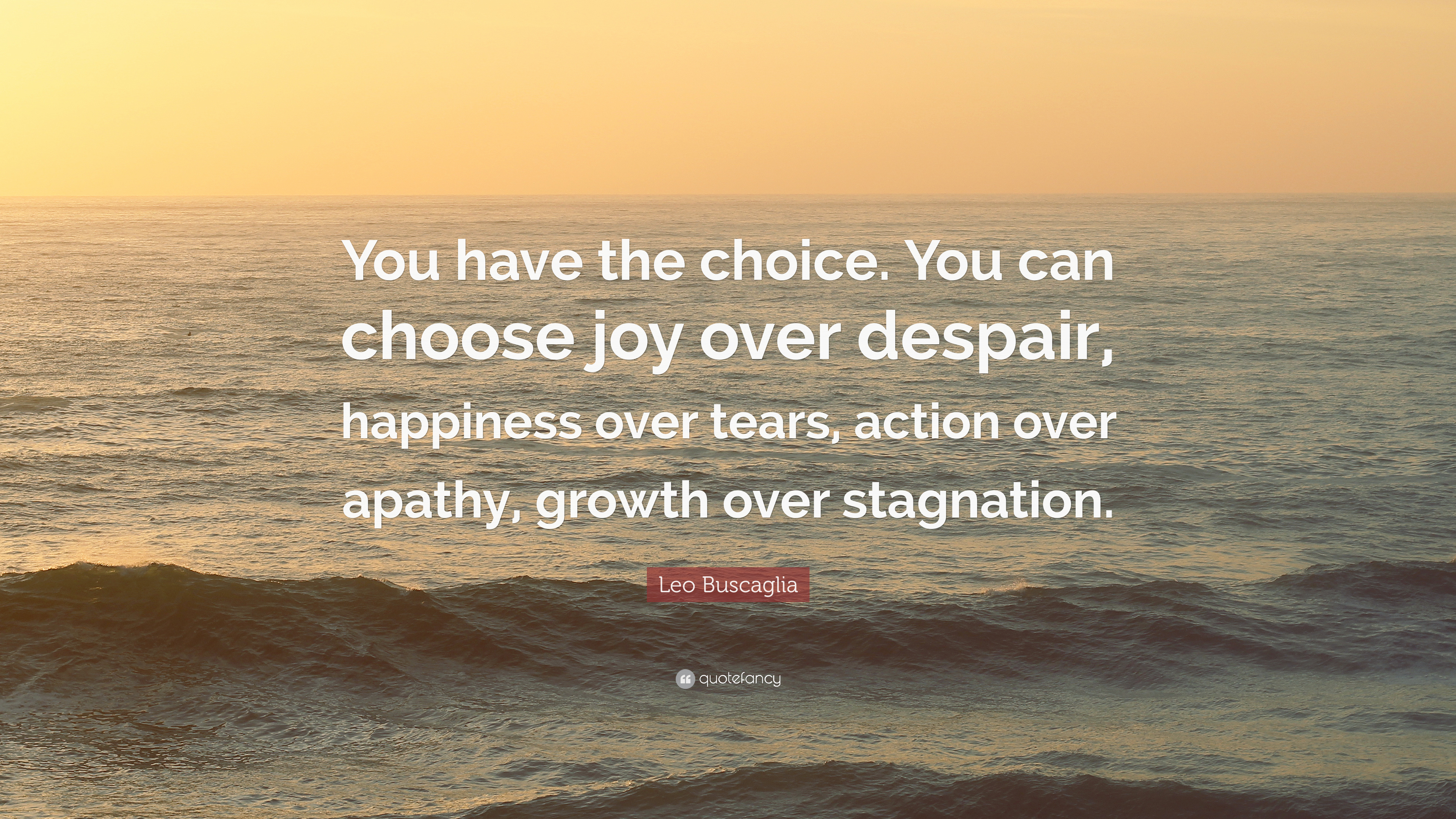 Leo Buscaglia Quote You Have The Choice You Can Choose