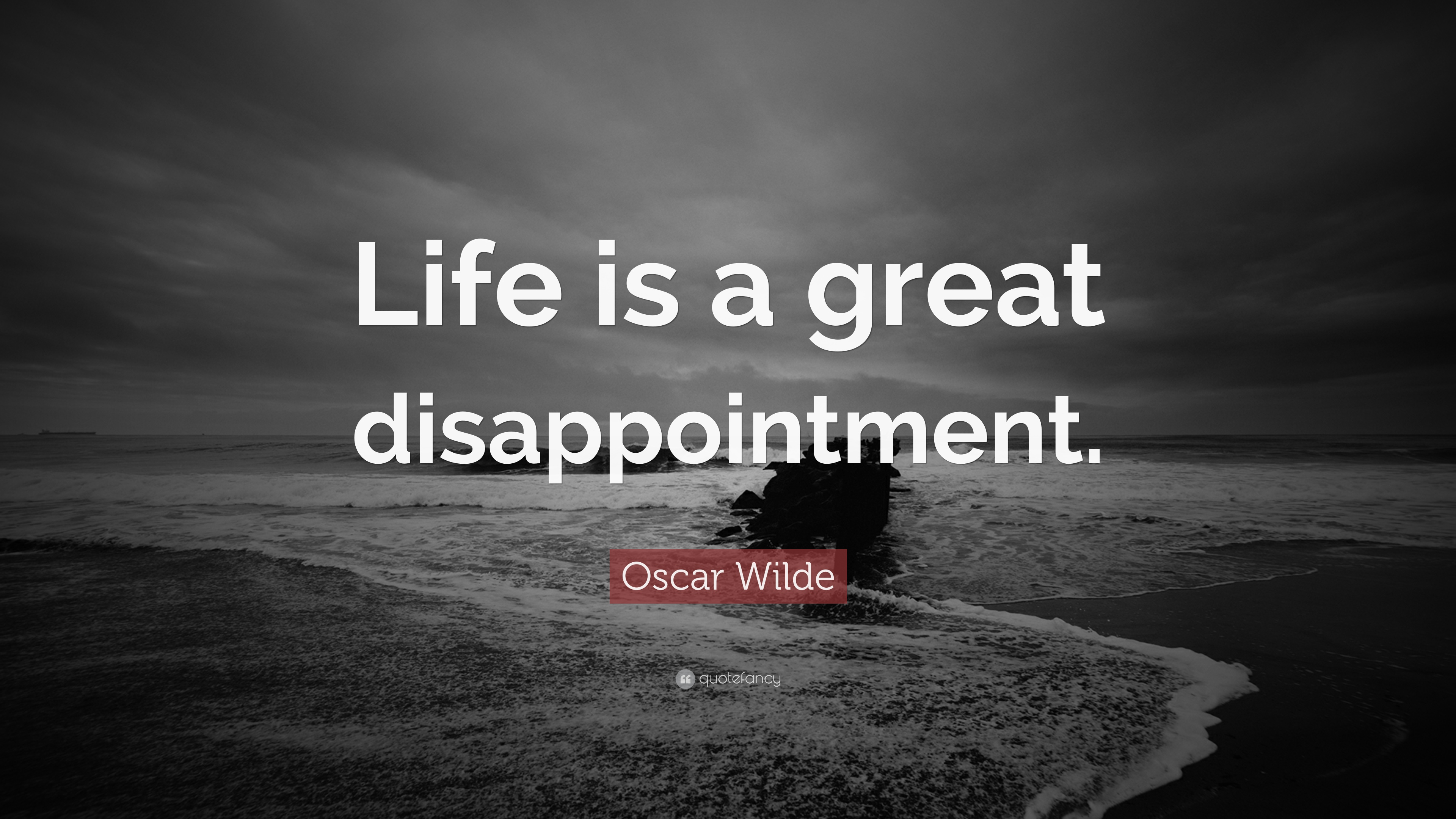 Oscar Wilde Quote Life Is A Great Disappointment 7 Wallpapers