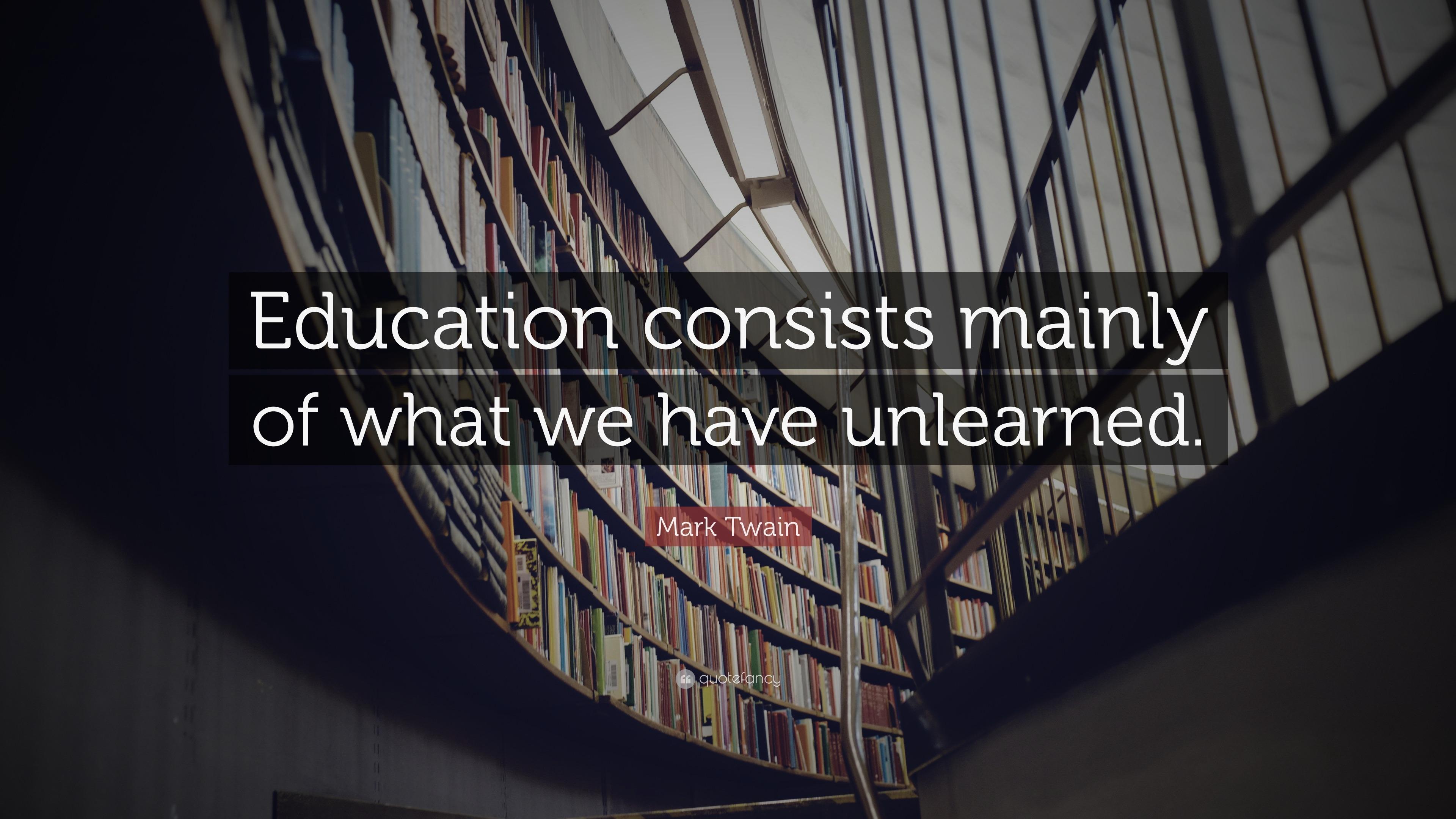 Mark Twain Education Quote