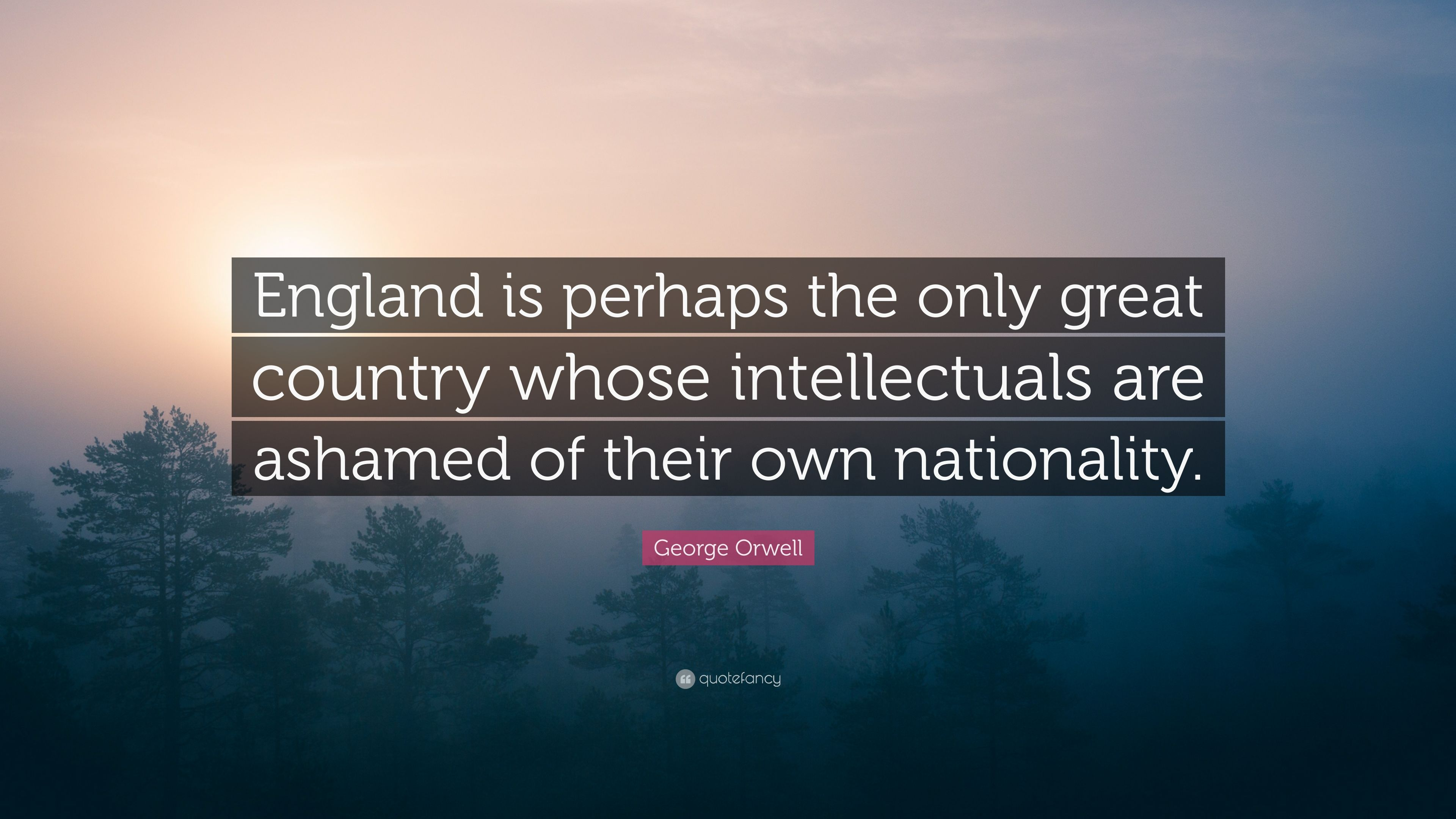 George Orwell Quote England Is Perhaps The Only Great Country