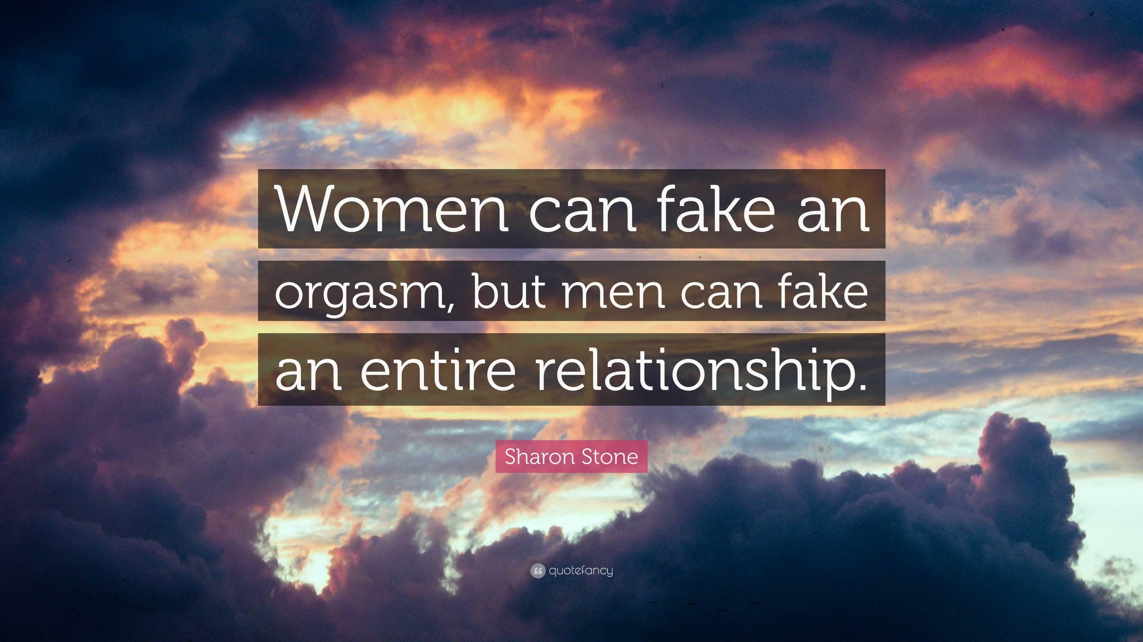 can a man fake an orgasm