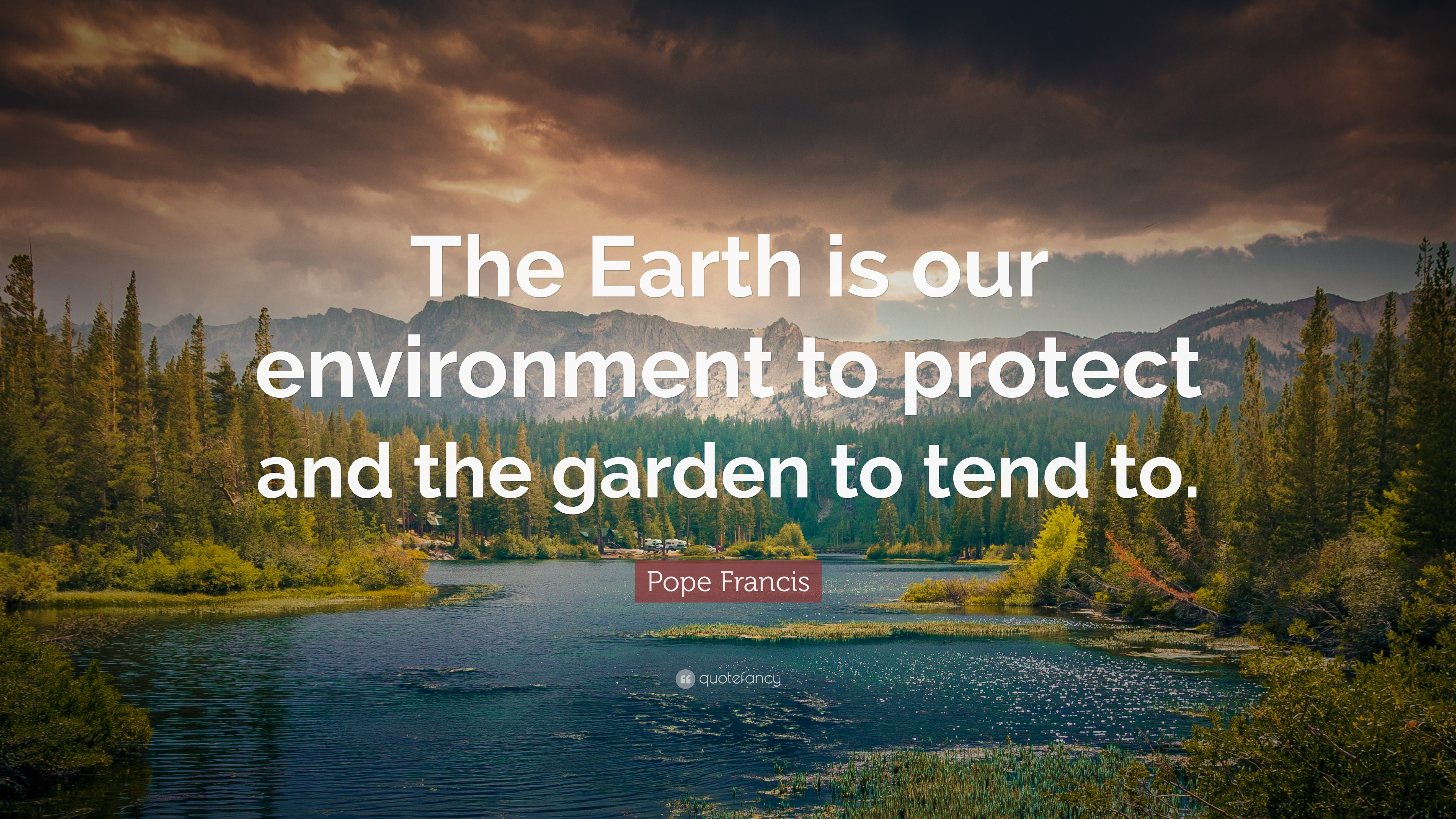 Pope Francis Quote The Earth Is Our Environment To Protect And The