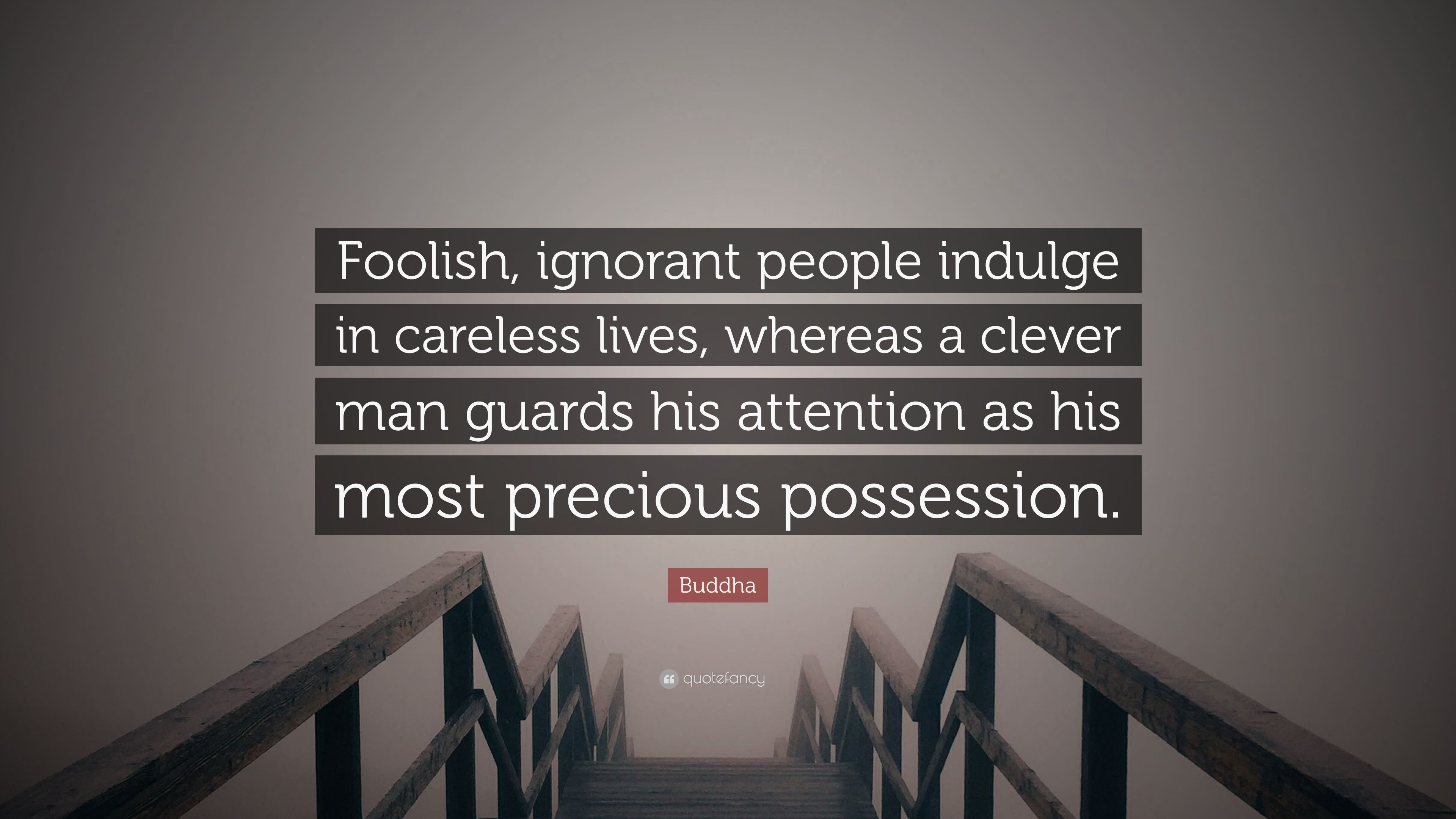 Buddha Quote Foolish Ignorant People Indulge In Careless Lives