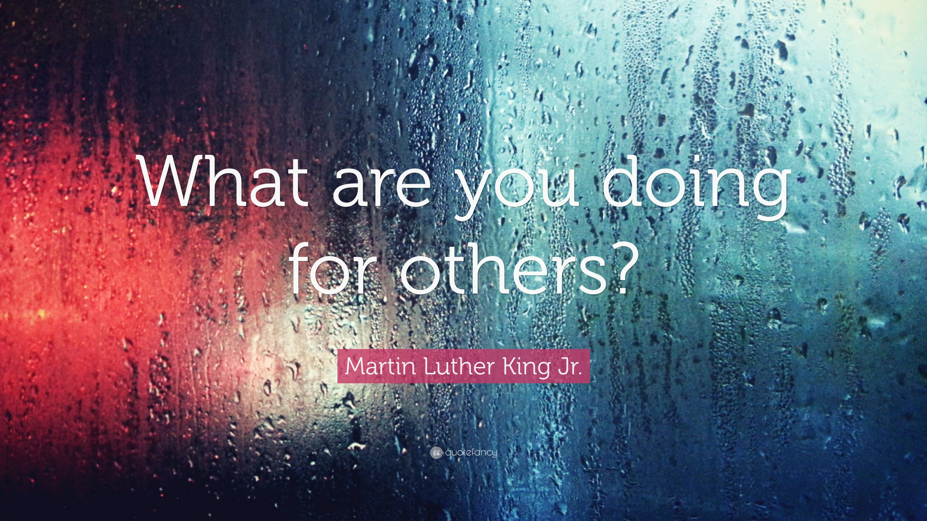 Martin Luther King Jr Quote What Are You Doing For Others 9